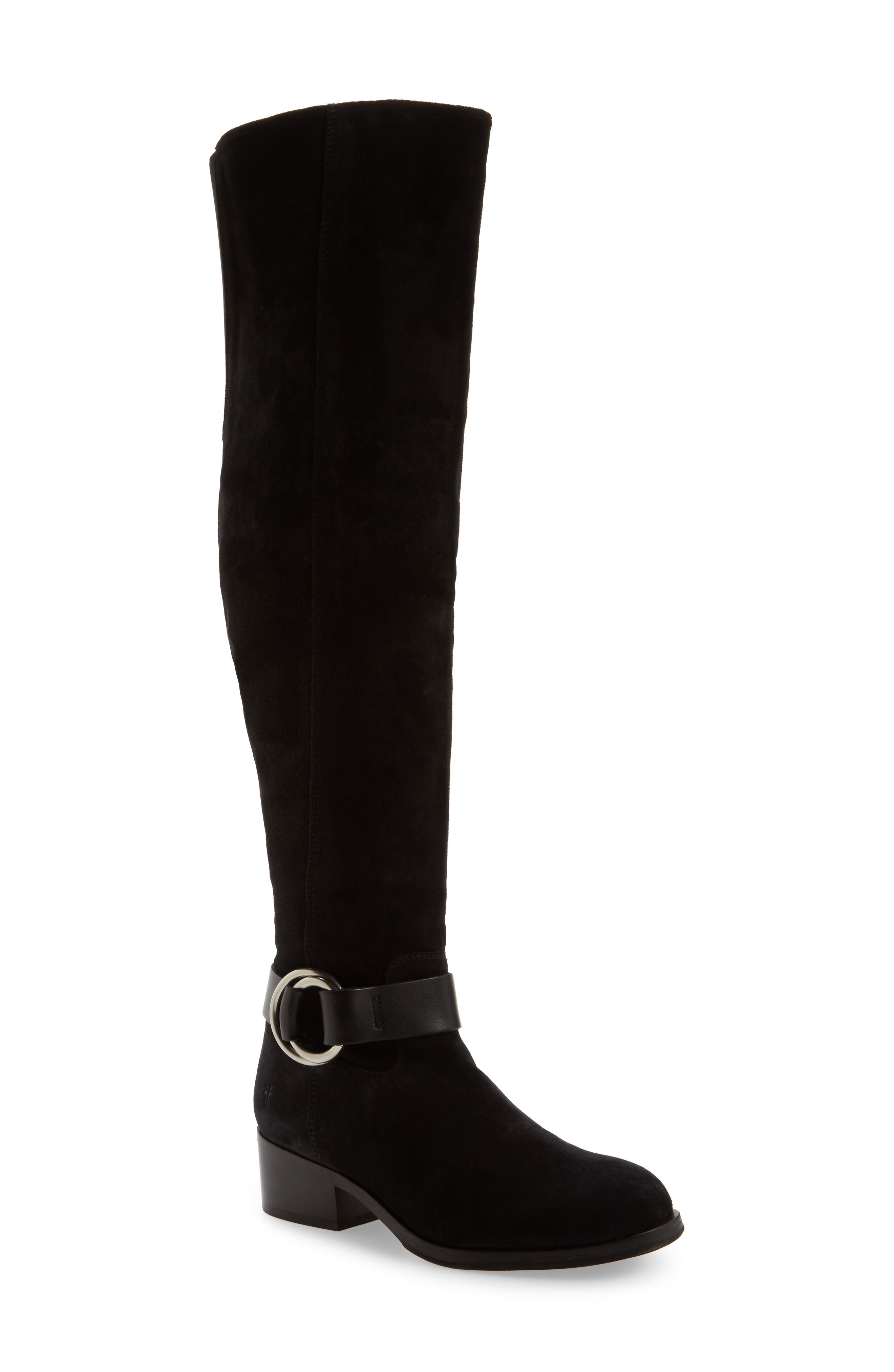 Kristen Harness Over the Knee Boot,                             Main thumbnail 1, color,                             001