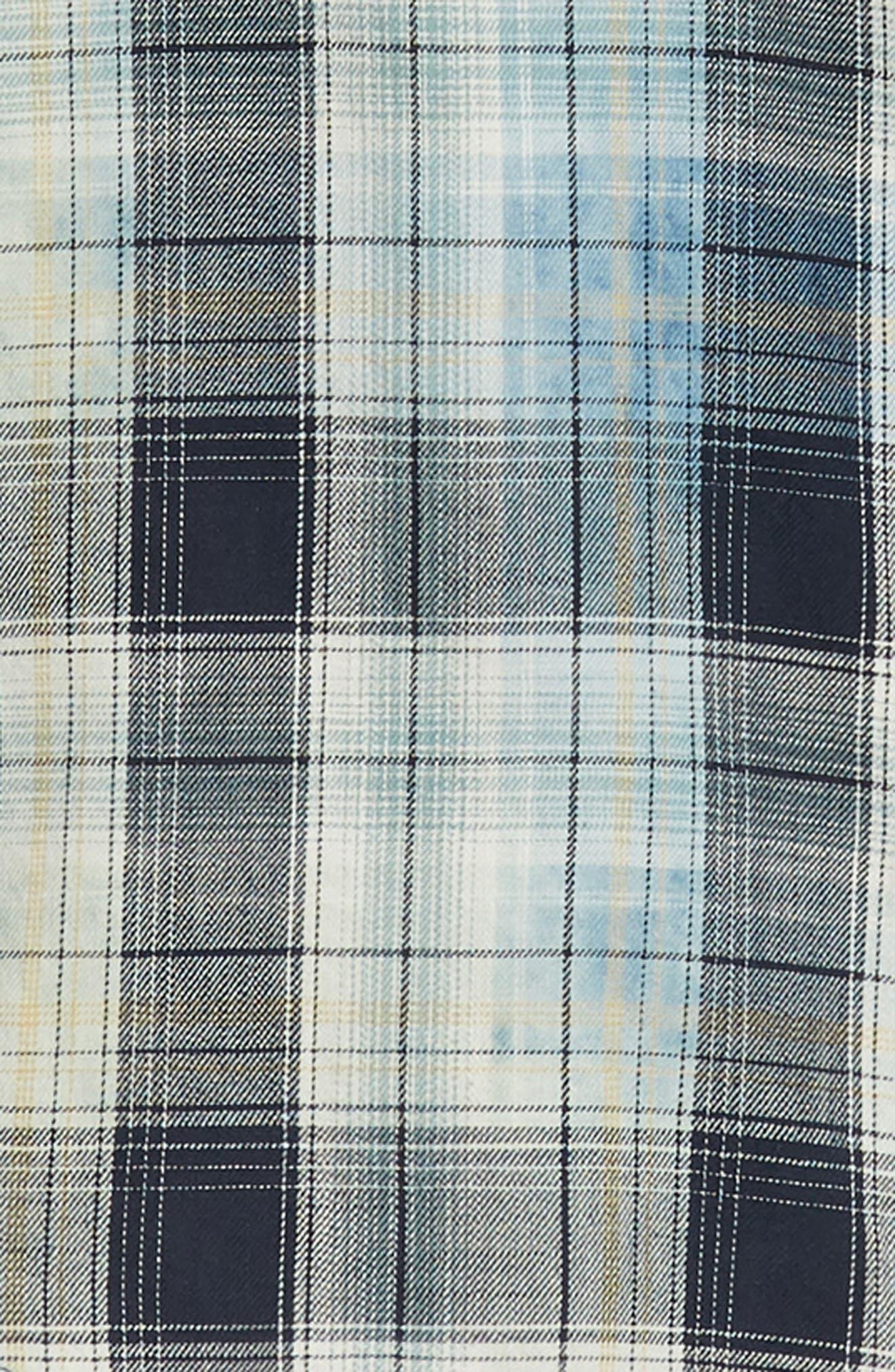 Sawtooth Regular Fit Crosshatch Plaid Shirt,                             Alternate thumbnail 6, color,                             ENSIGN BLUE