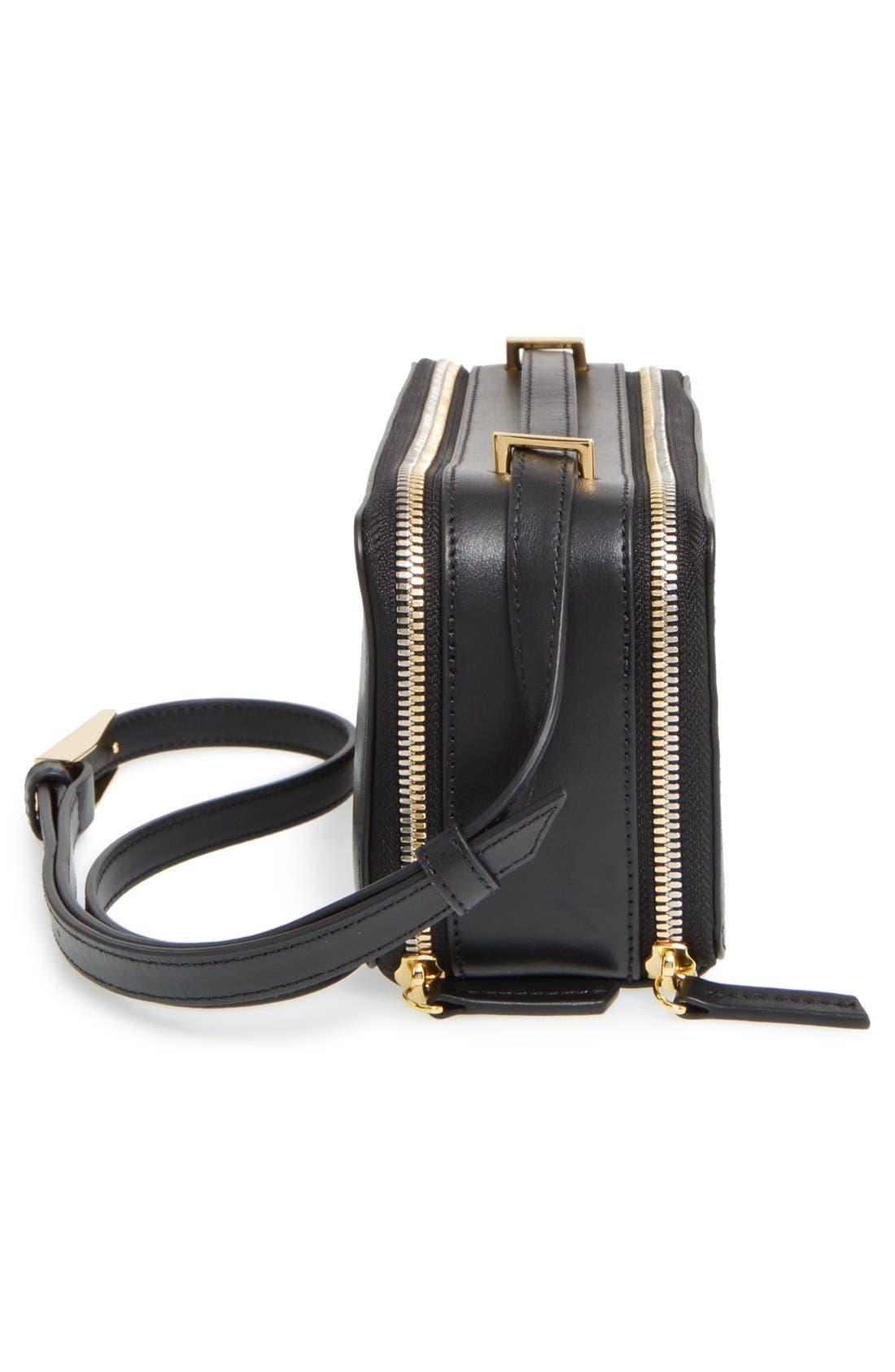 WANT LES ESSENTIELS,                             'Demiranda' Leather Shoulder Bag,                             Alternate thumbnail 5, color,                             001