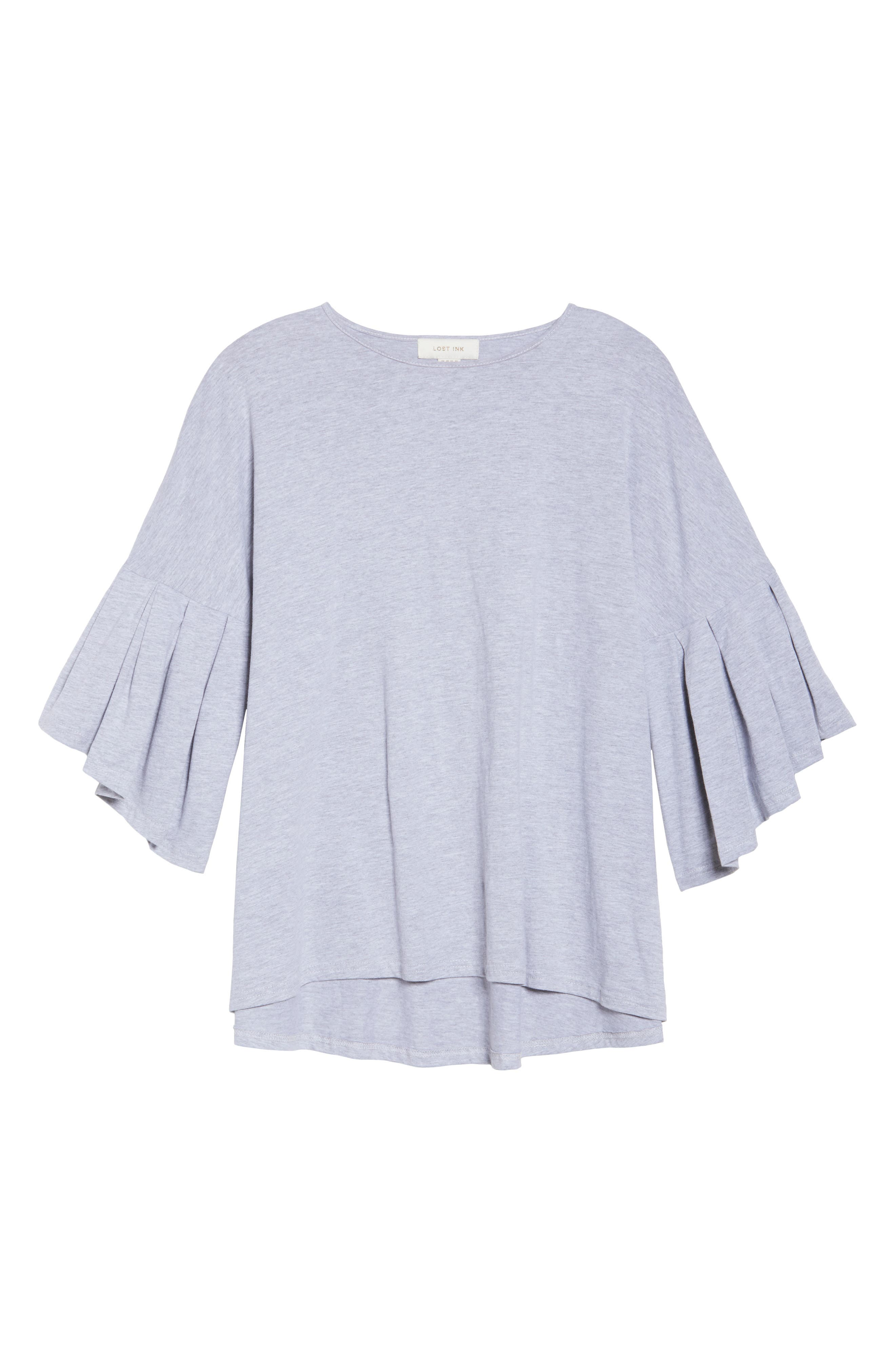 Bell Sleeve Cotton Blouse,                             Alternate thumbnail 6, color,                             021