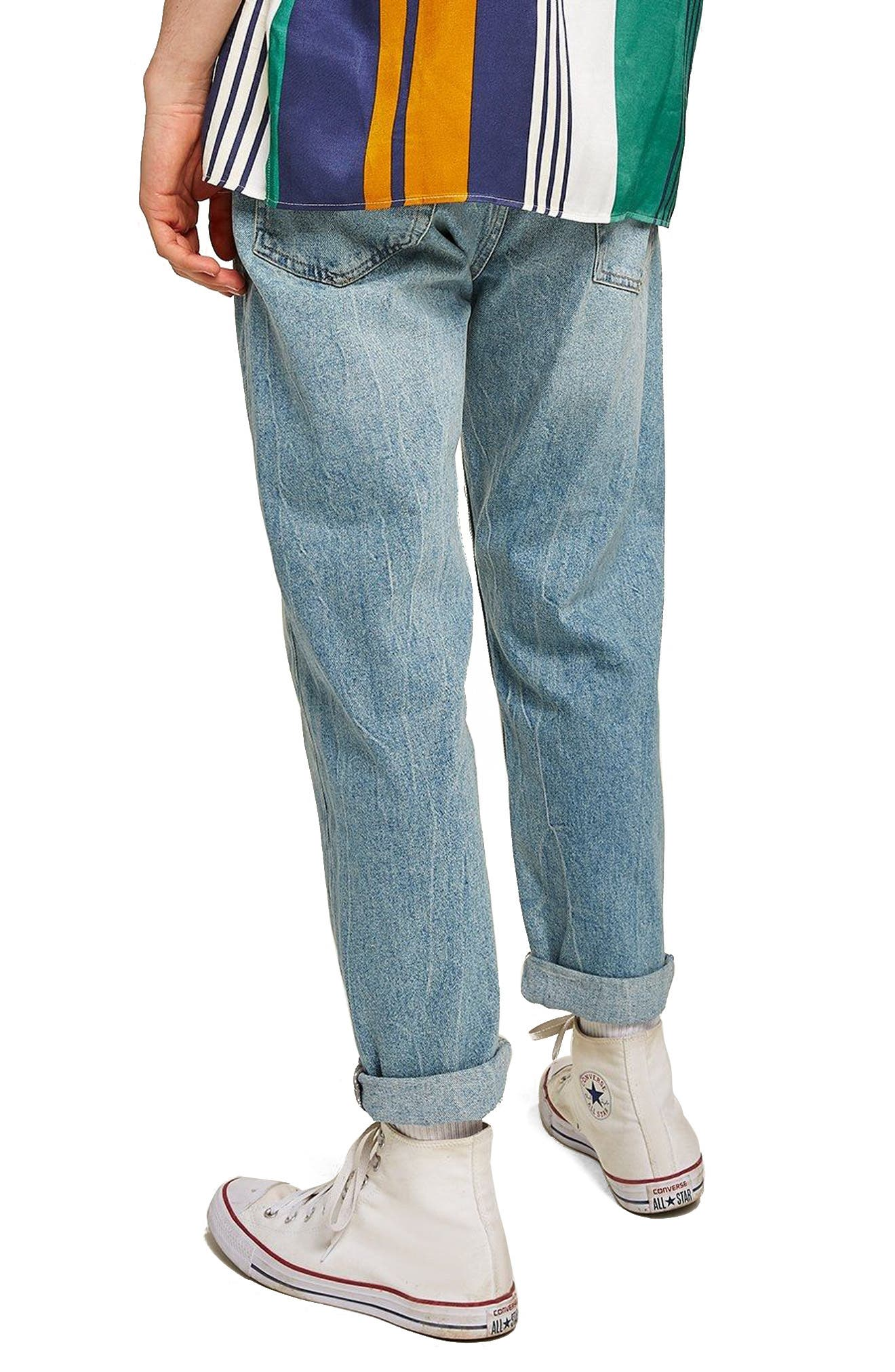 Original Fit Straight Leg Jeans,                             Alternate thumbnail 2, color,                             400