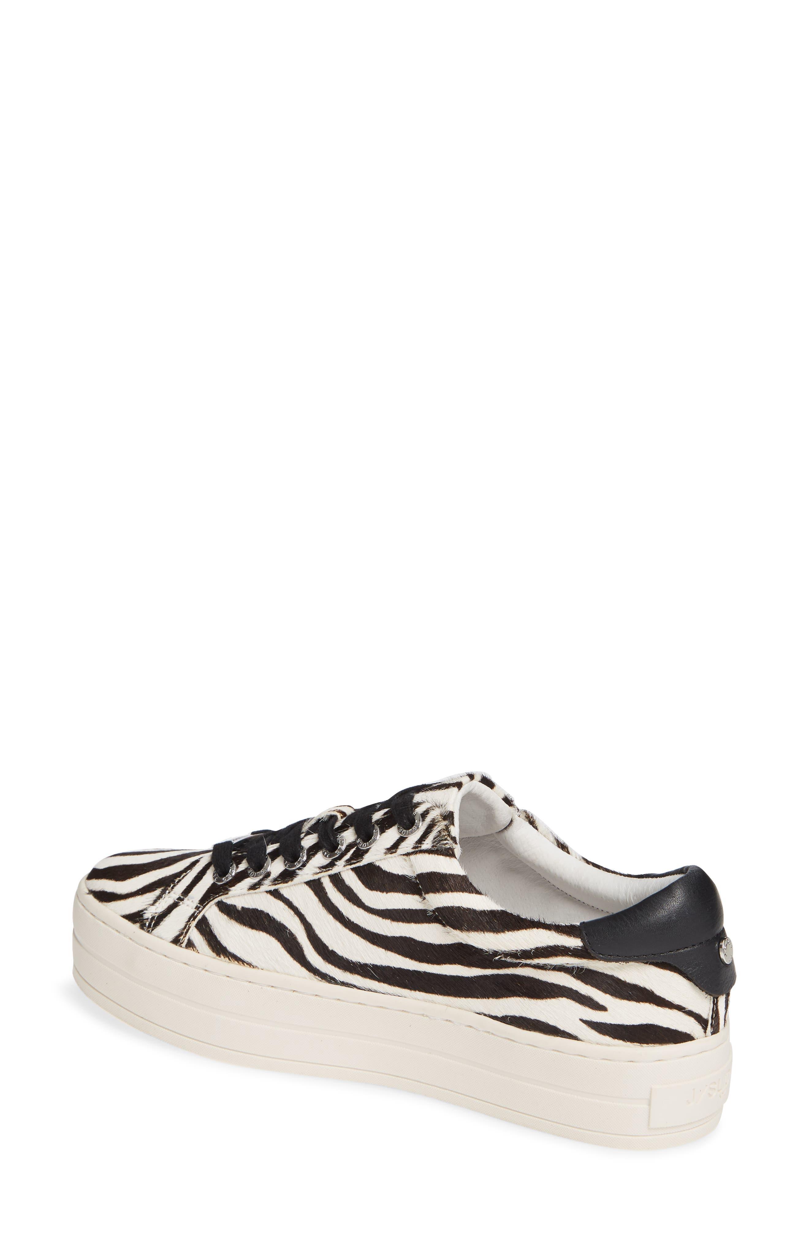 JSLIDES,                             Hippie Genuine Calf Hair Platform Sneaker,                             Alternate thumbnail 2, color,                             ZEBRA CALF HAIR