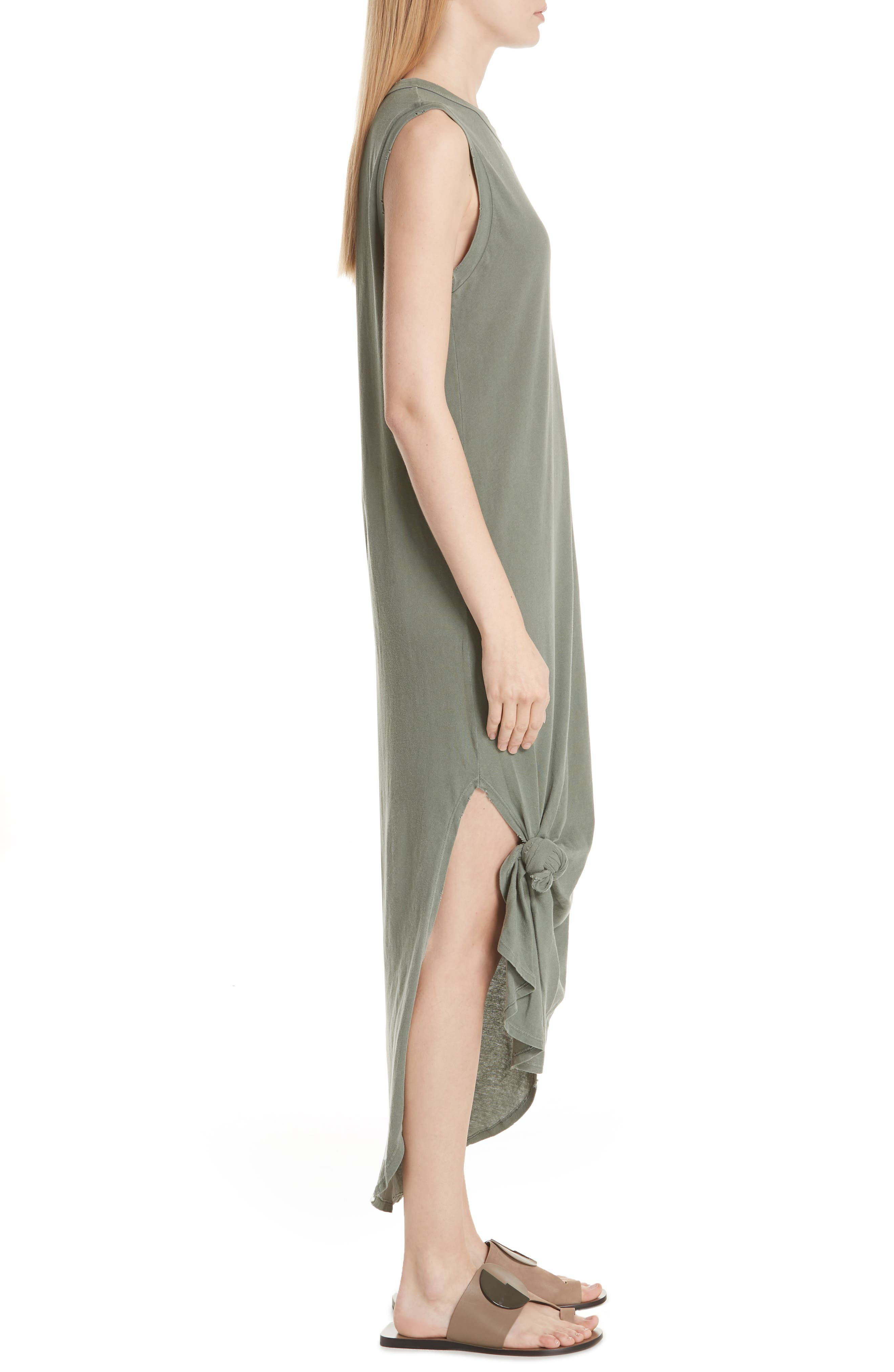 Knotted Muscle Tank Dress,                             Alternate thumbnail 3, color,                             300