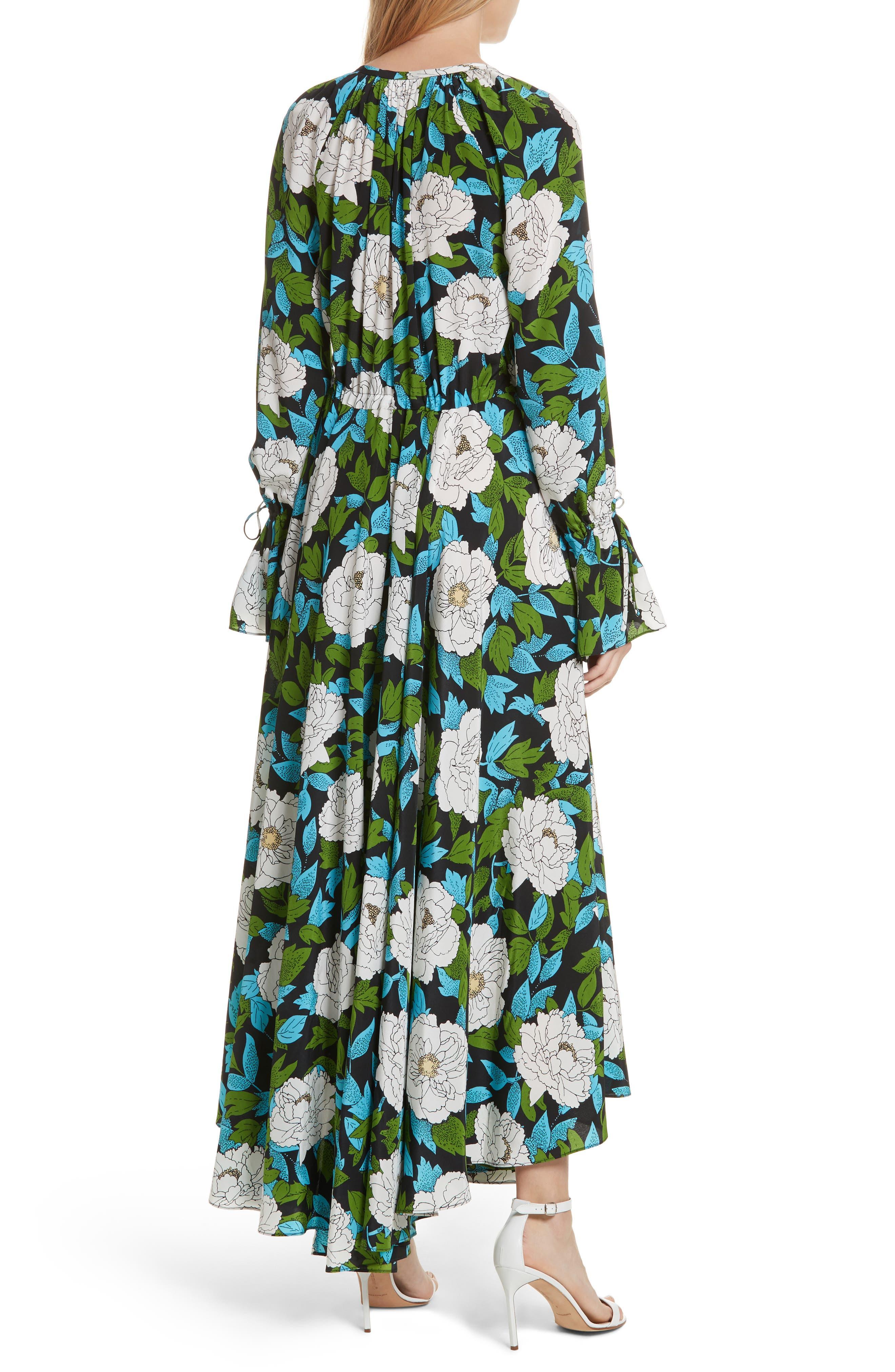 Diane von Furstenberg Floral Silk Maxi Dress,                             Alternate thumbnail 2, color,                             389