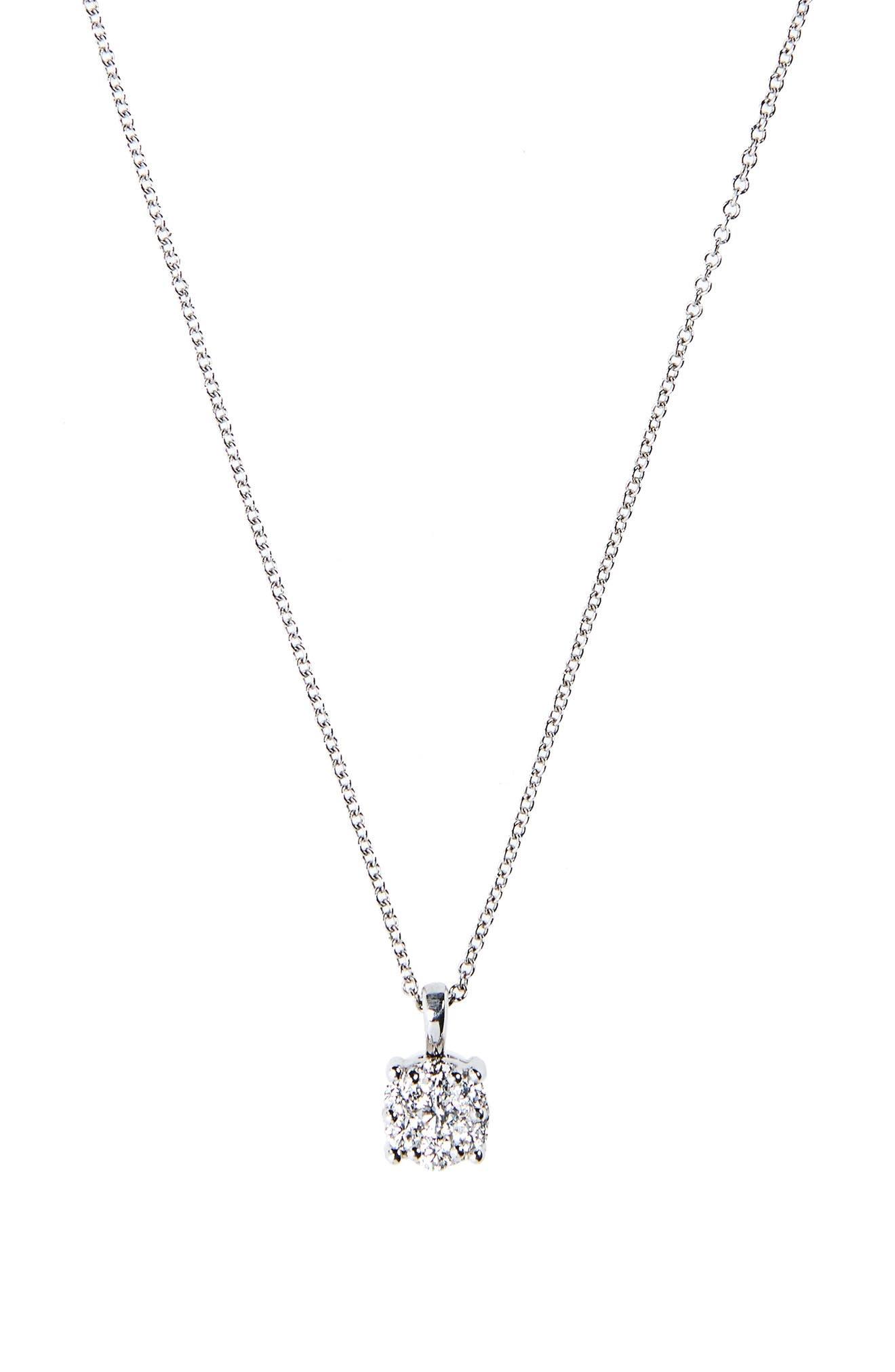 Lucky 7 Diamond Pendant Necklace,                             Alternate thumbnail 2, color,                             711