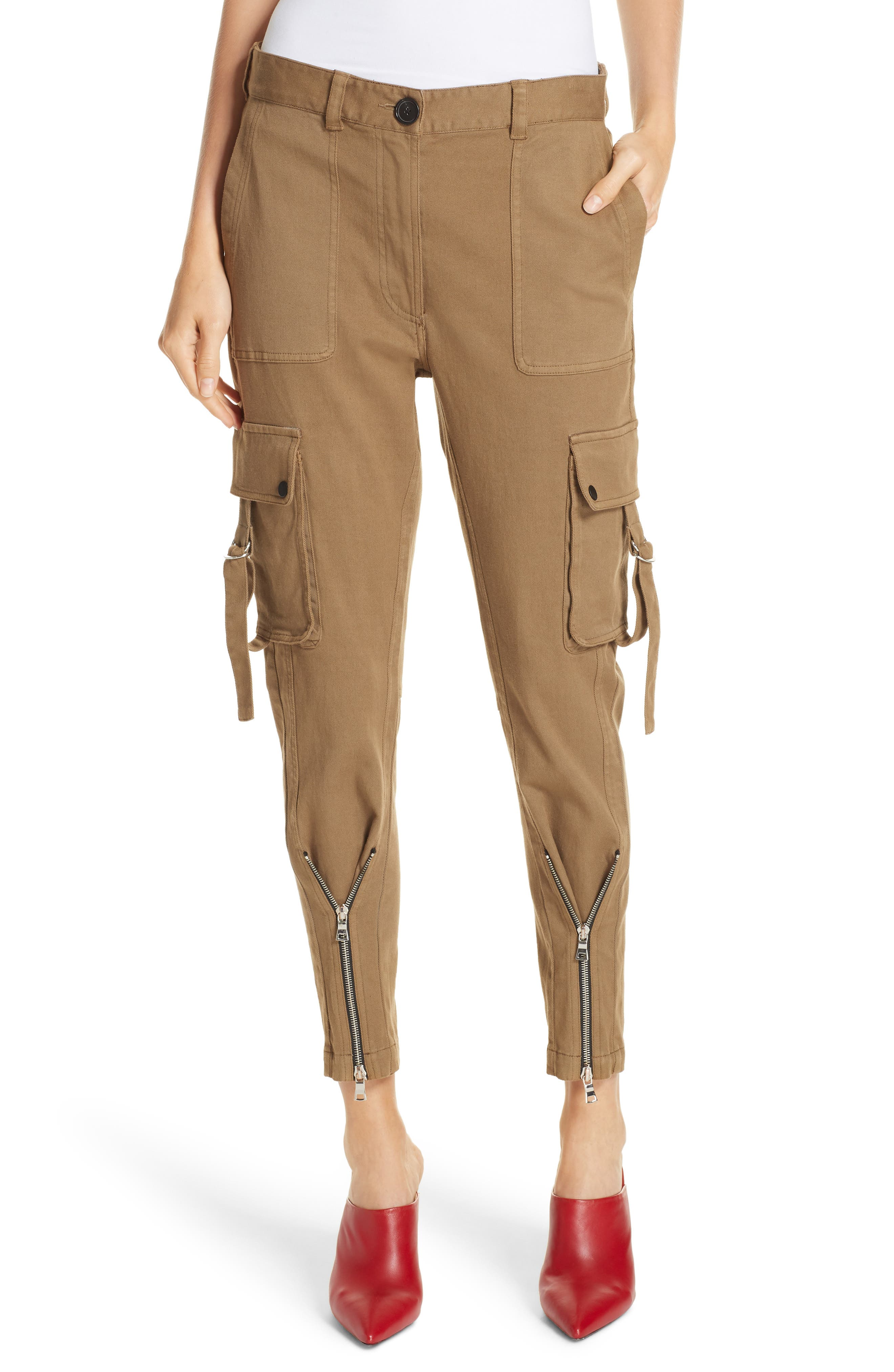 Skinny Cargo Pants,                         Main,                         color, OLIVE