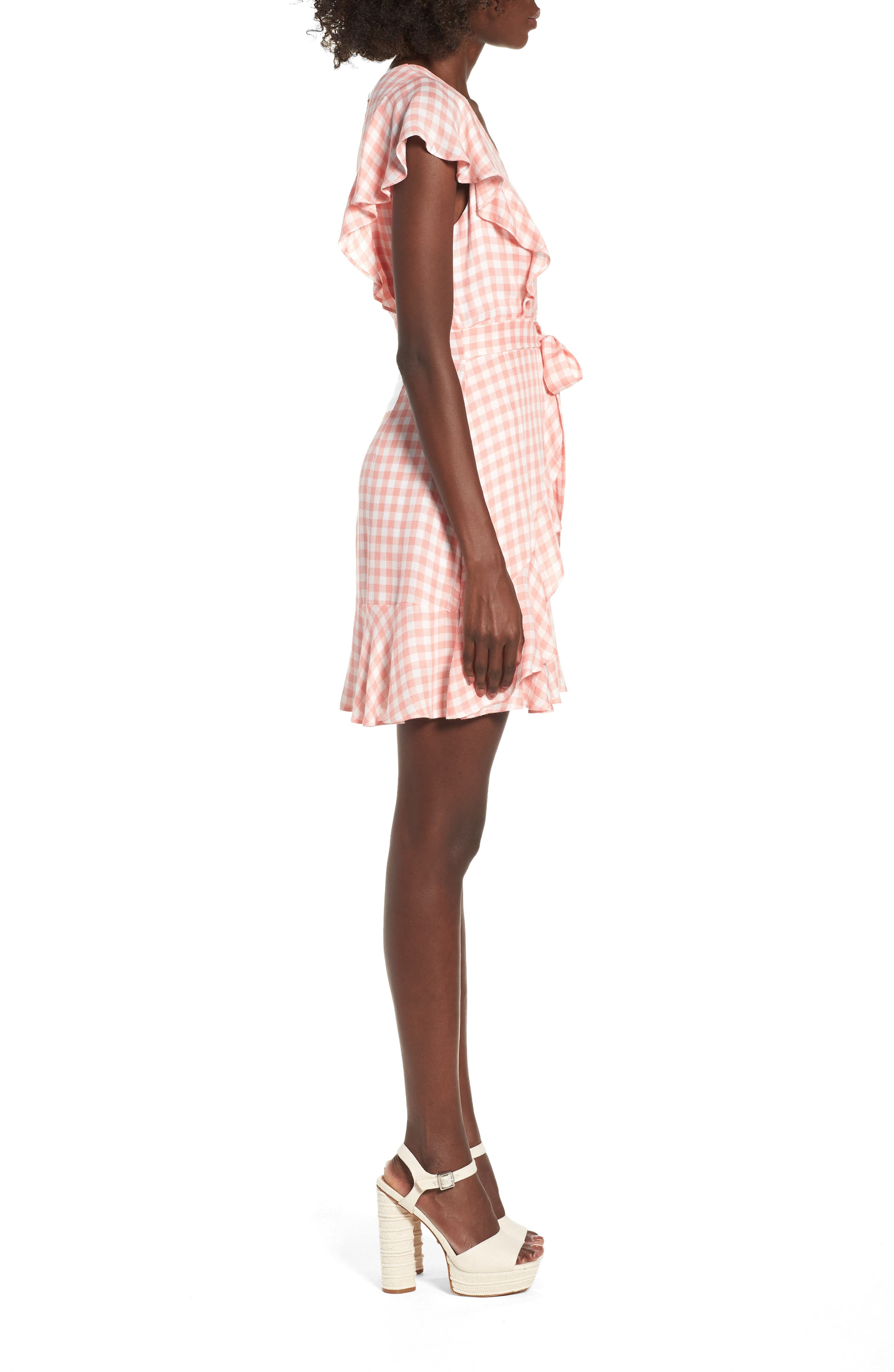 Brunch Ruffle Gingham Dress,                             Alternate thumbnail 3, color,                             693