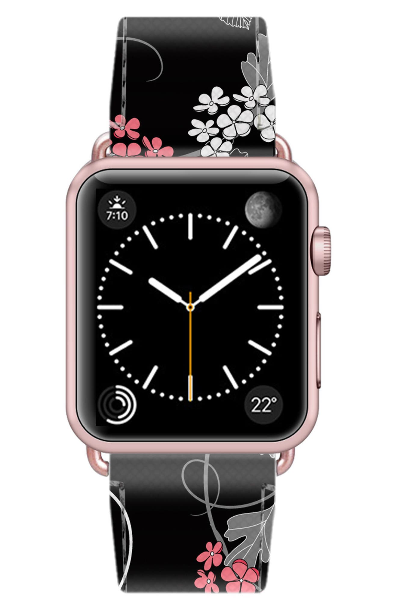 Saffiano Faux Leather Apple Watch Strap,                             Alternate thumbnail 36, color,