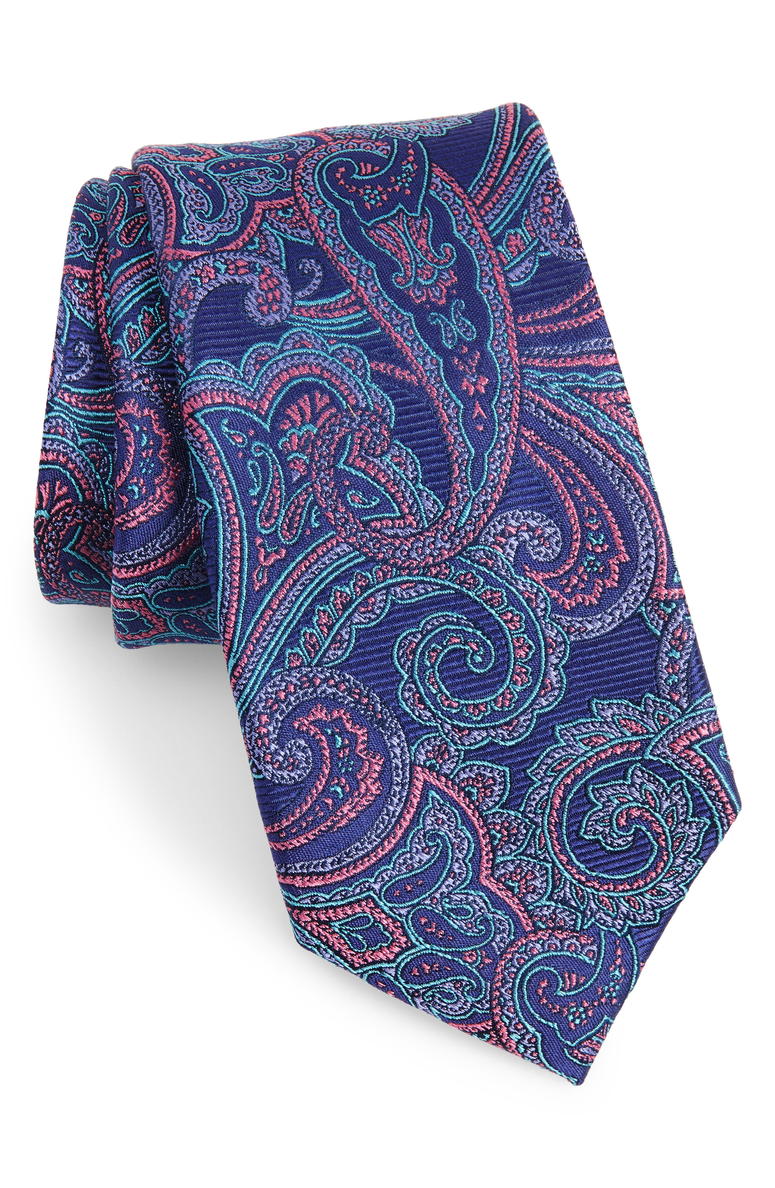 Avalon Paisley Silk Tie,                             Main thumbnail 4, color,