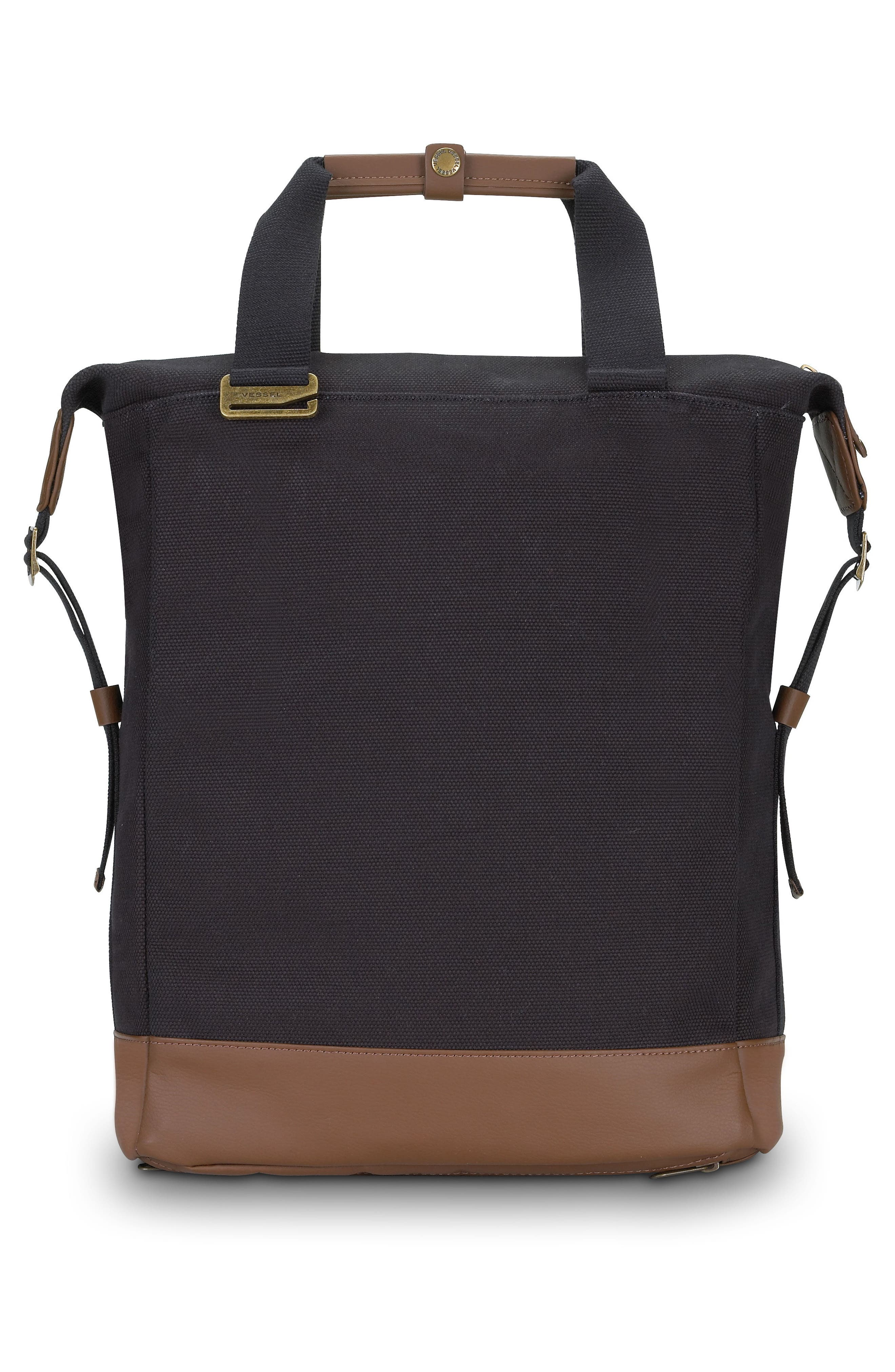 Refined Tote Backpack,                             Alternate thumbnail 3, color,                             001