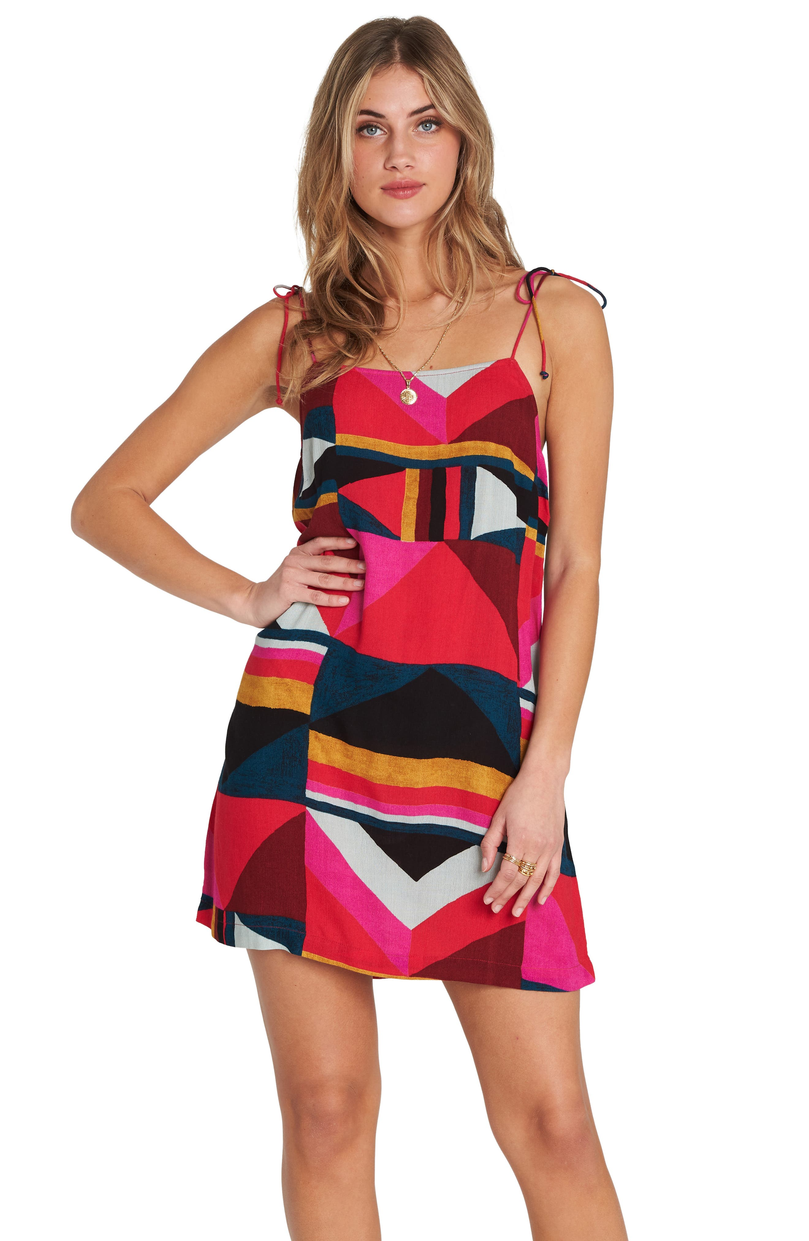 Night Out Print Camisole Dress,                             Alternate thumbnail 4, color,                             MULTI