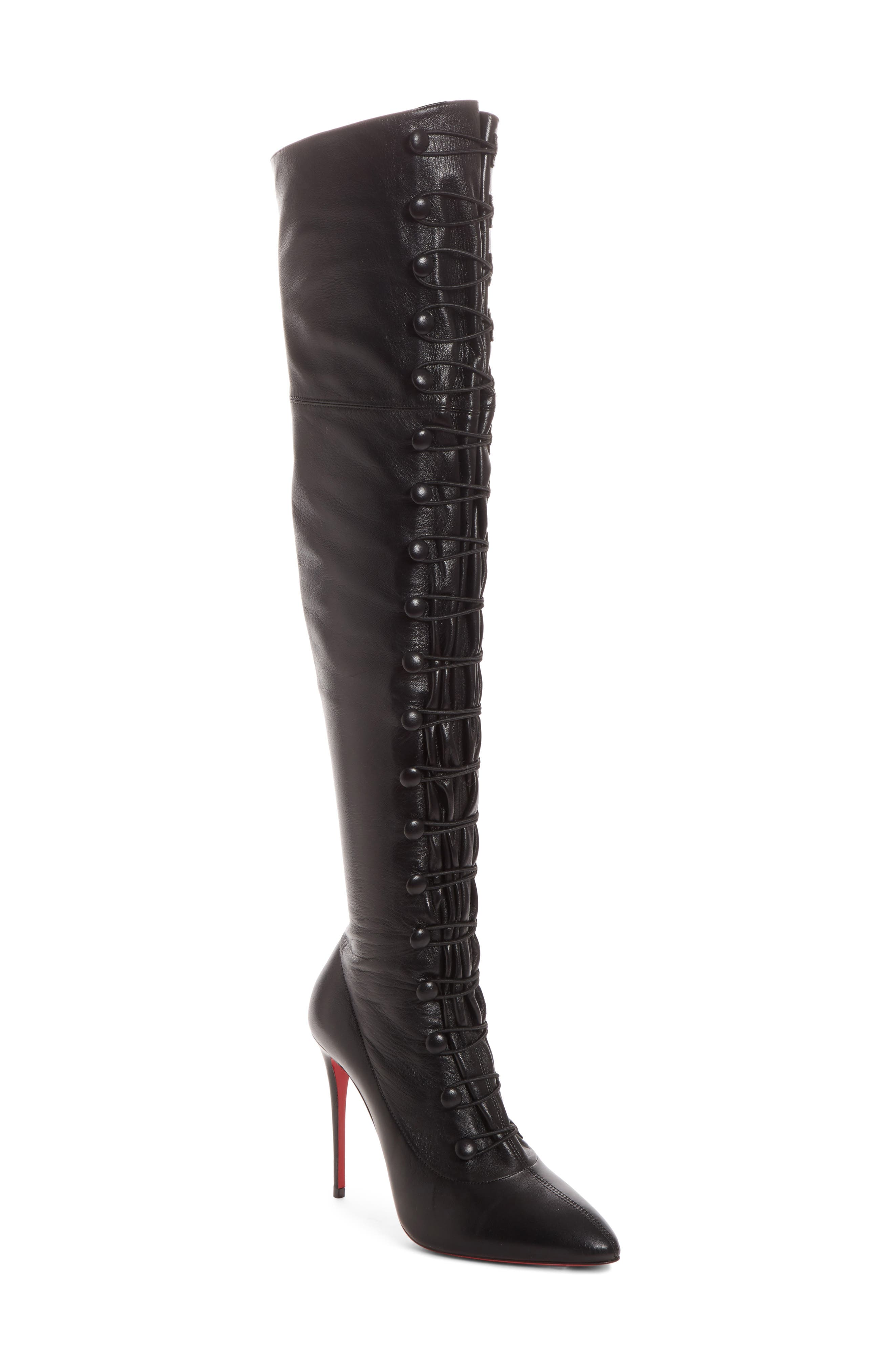 French Tutu Over the Knee Boot,                         Main,                         color, 001