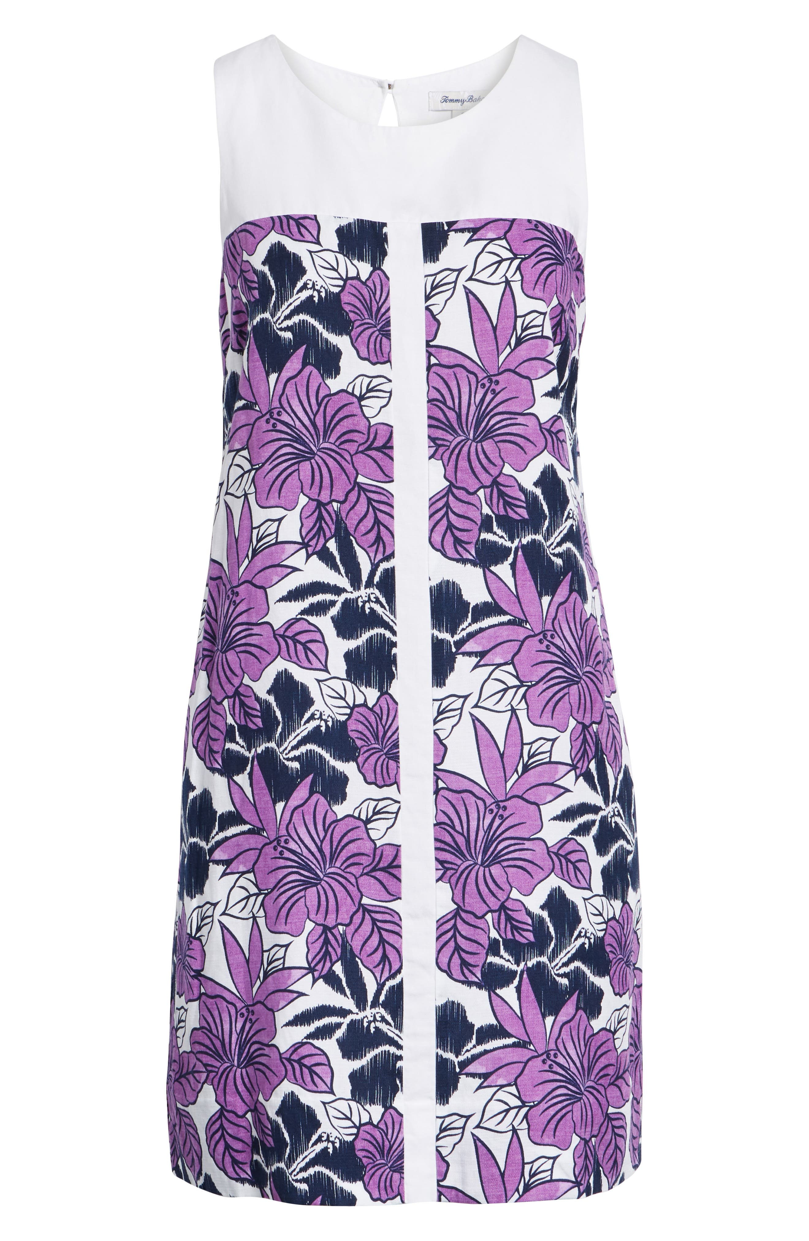 Blissful Blooms Shift Dress,                             Alternate thumbnail 7, color,                             VIVID PURPLE