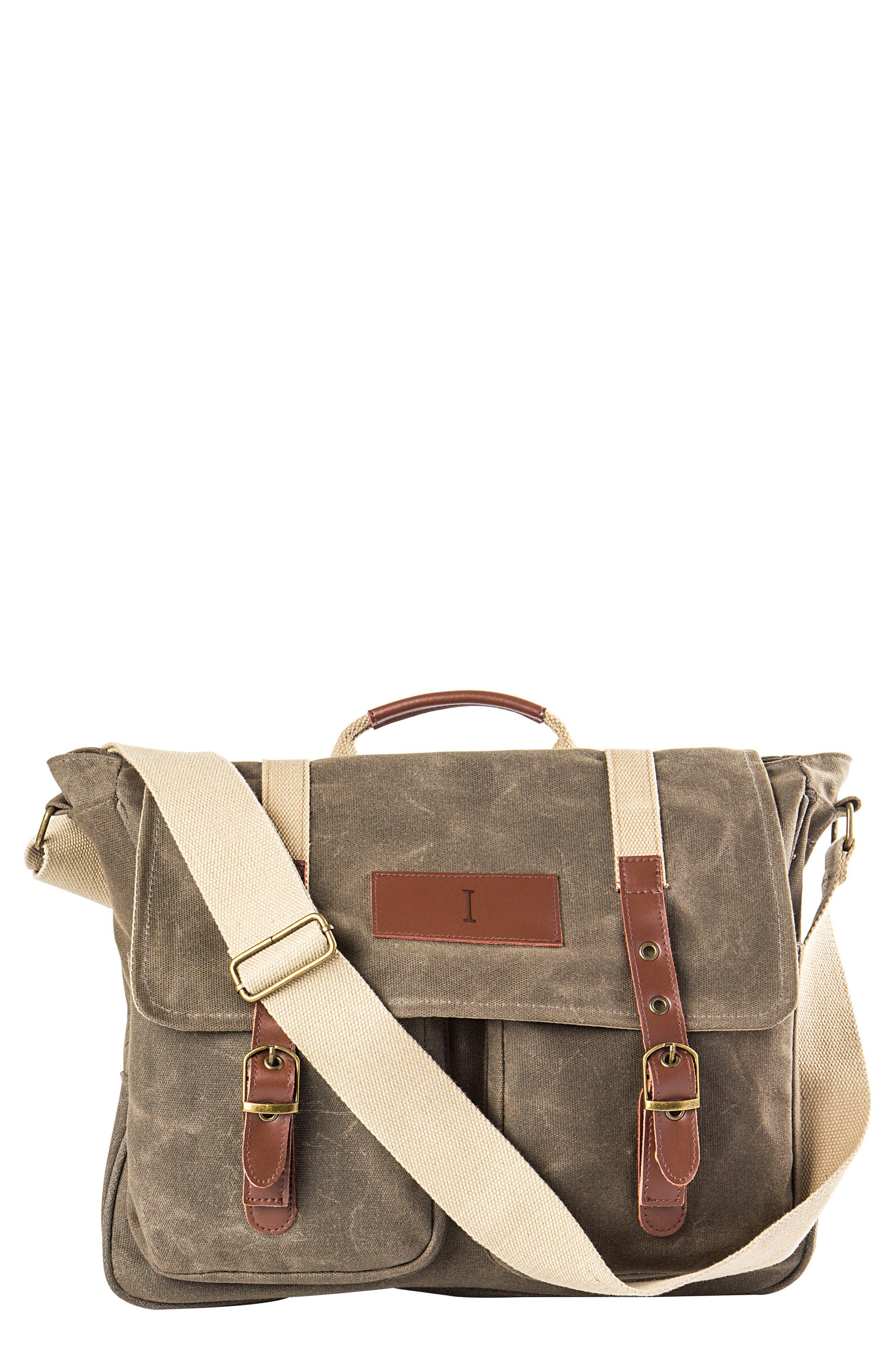 Monogram Messenger Bag,                         Main,                         color, GREEN-I