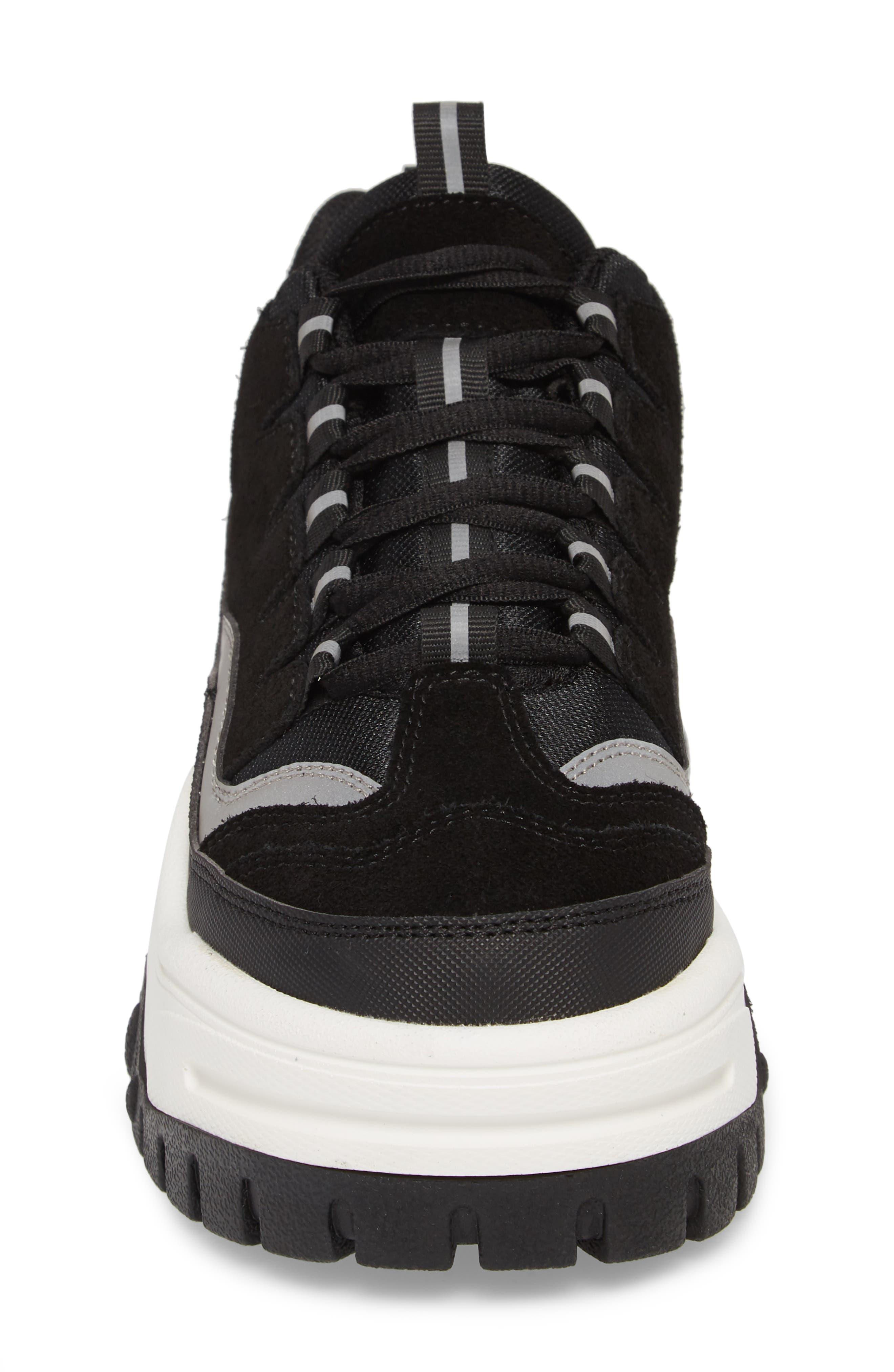 Pro Era Platform Sneaker,                             Alternate thumbnail 4, color,                             BLACK SUEDE REFLECTIVE