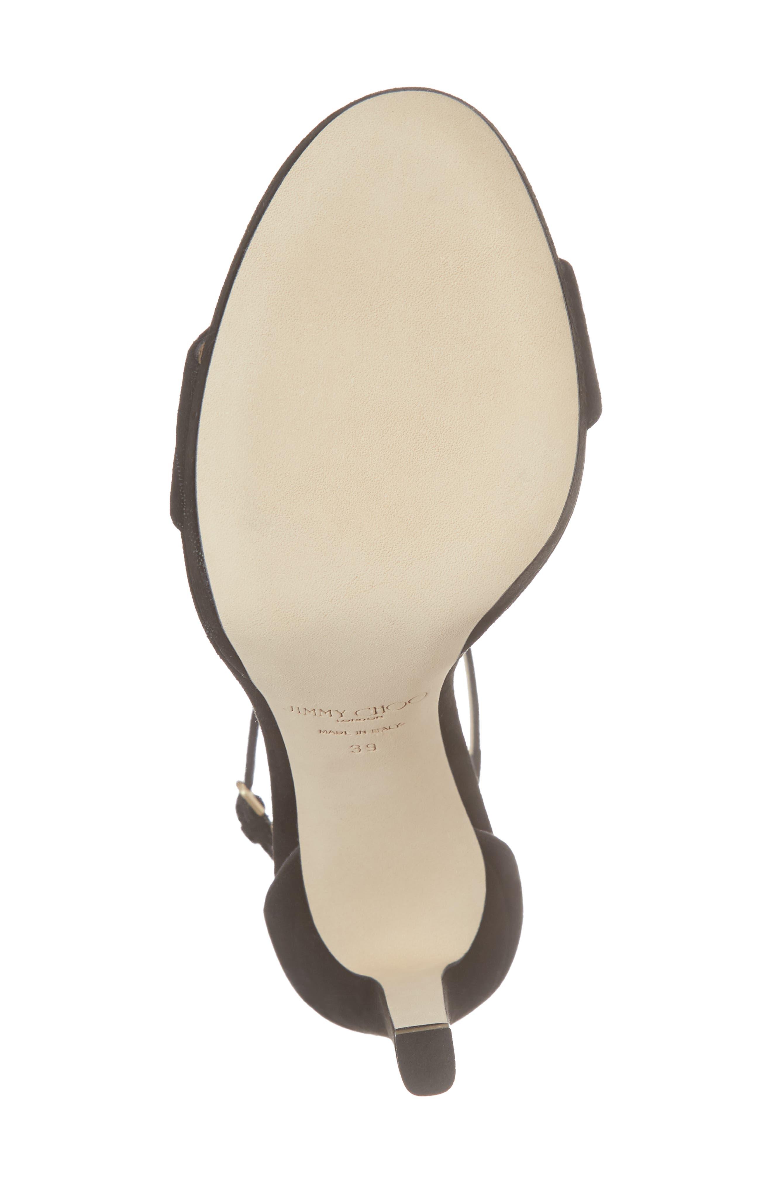 Misty Platform Sandal,                             Alternate thumbnail 6, color,                             BLACK
