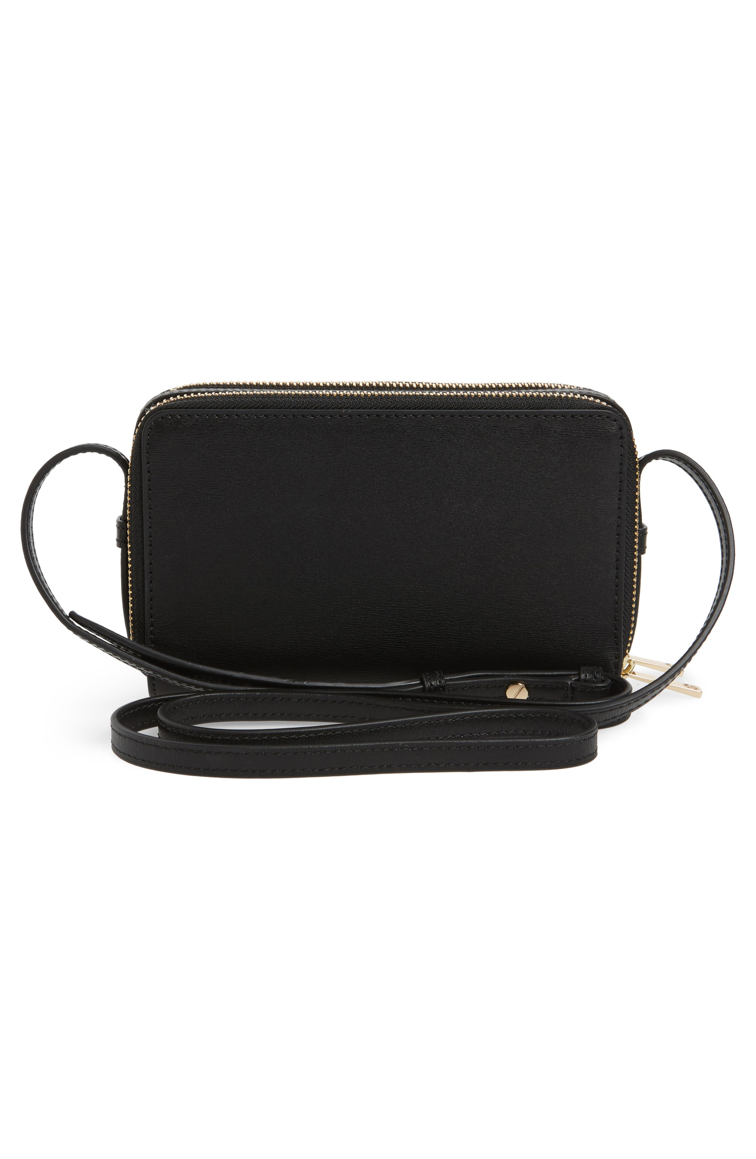 Mini Parker Leather Crossbody Bag,                             Alternate thumbnail 3, color,                             001