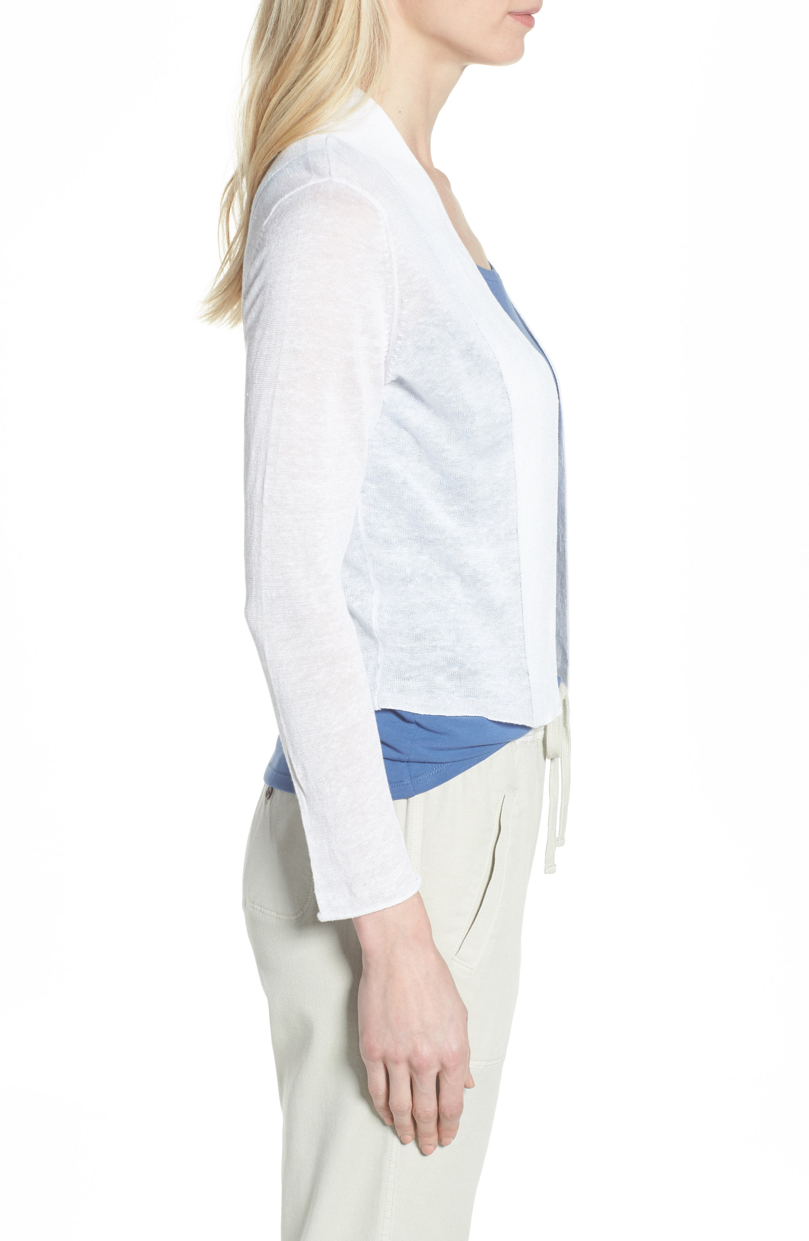 NIC + ZOE Daybreak Open Front Cardigan,                             Alternate thumbnail 3, color,                             123