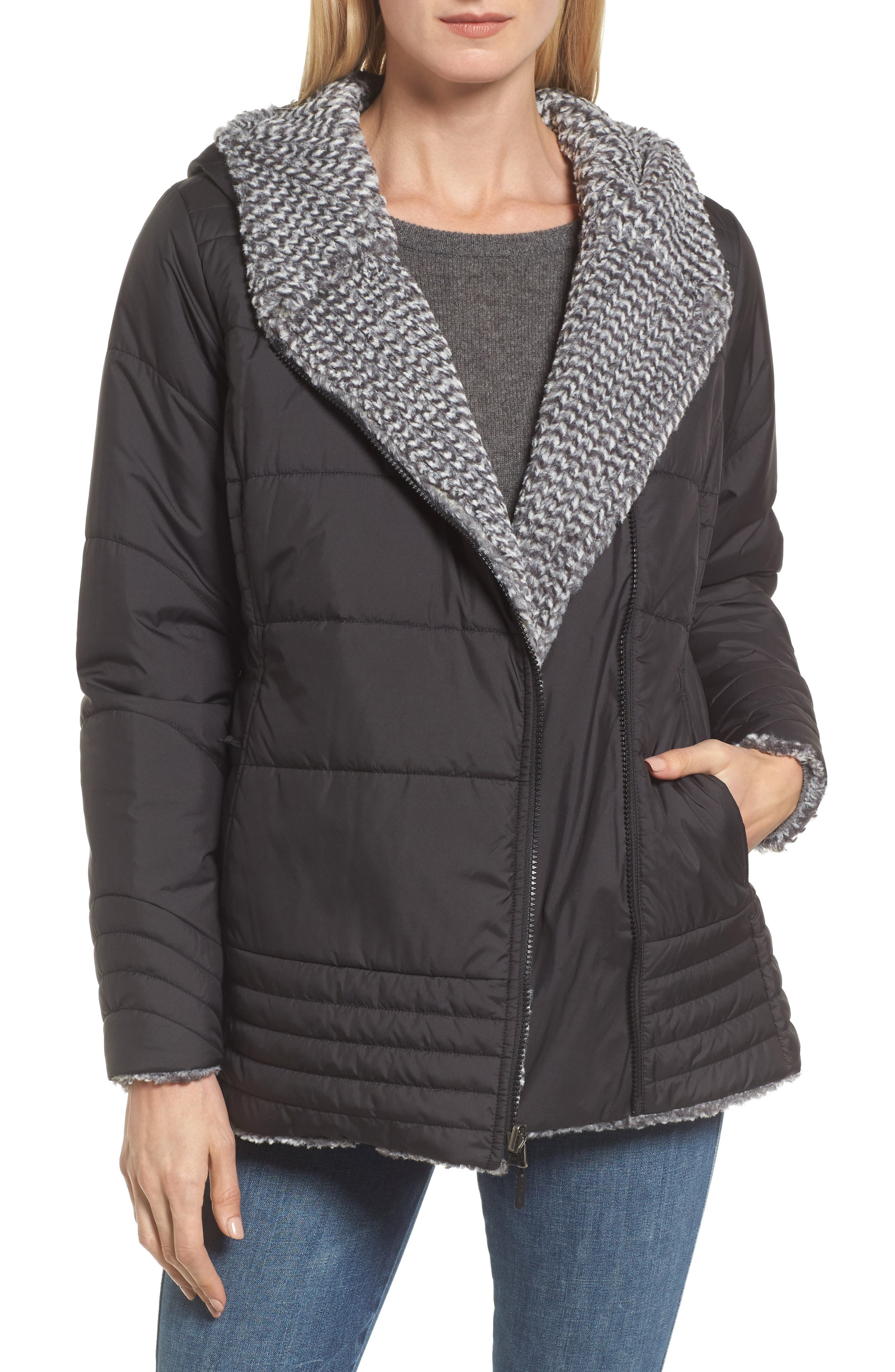 Reversible Mossbud Swirl Water Repellent Parka,                         Main,                         color, 001