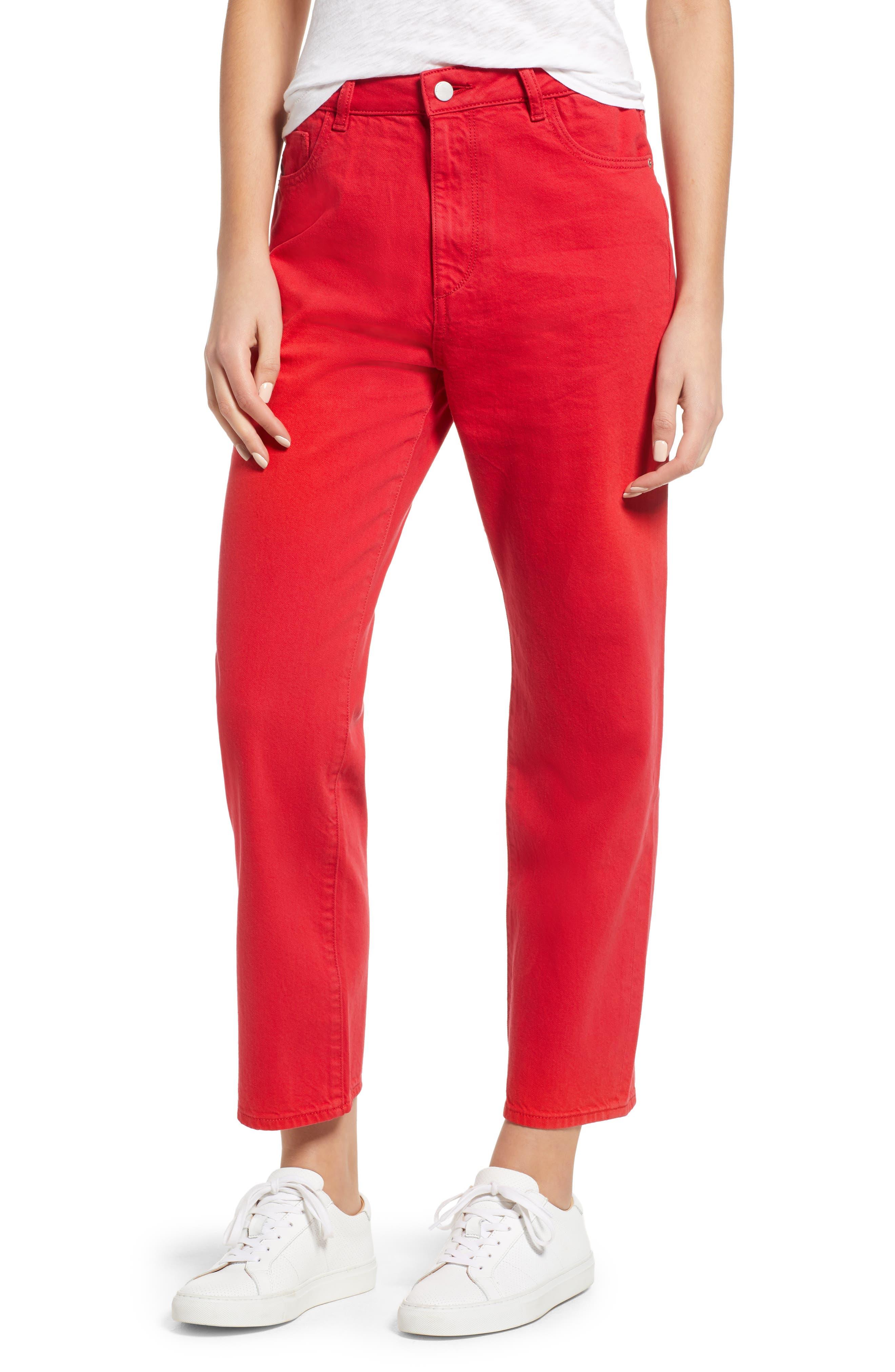 Jerry High Waist Straight Leg Jeans,                         Main,                         color, 600