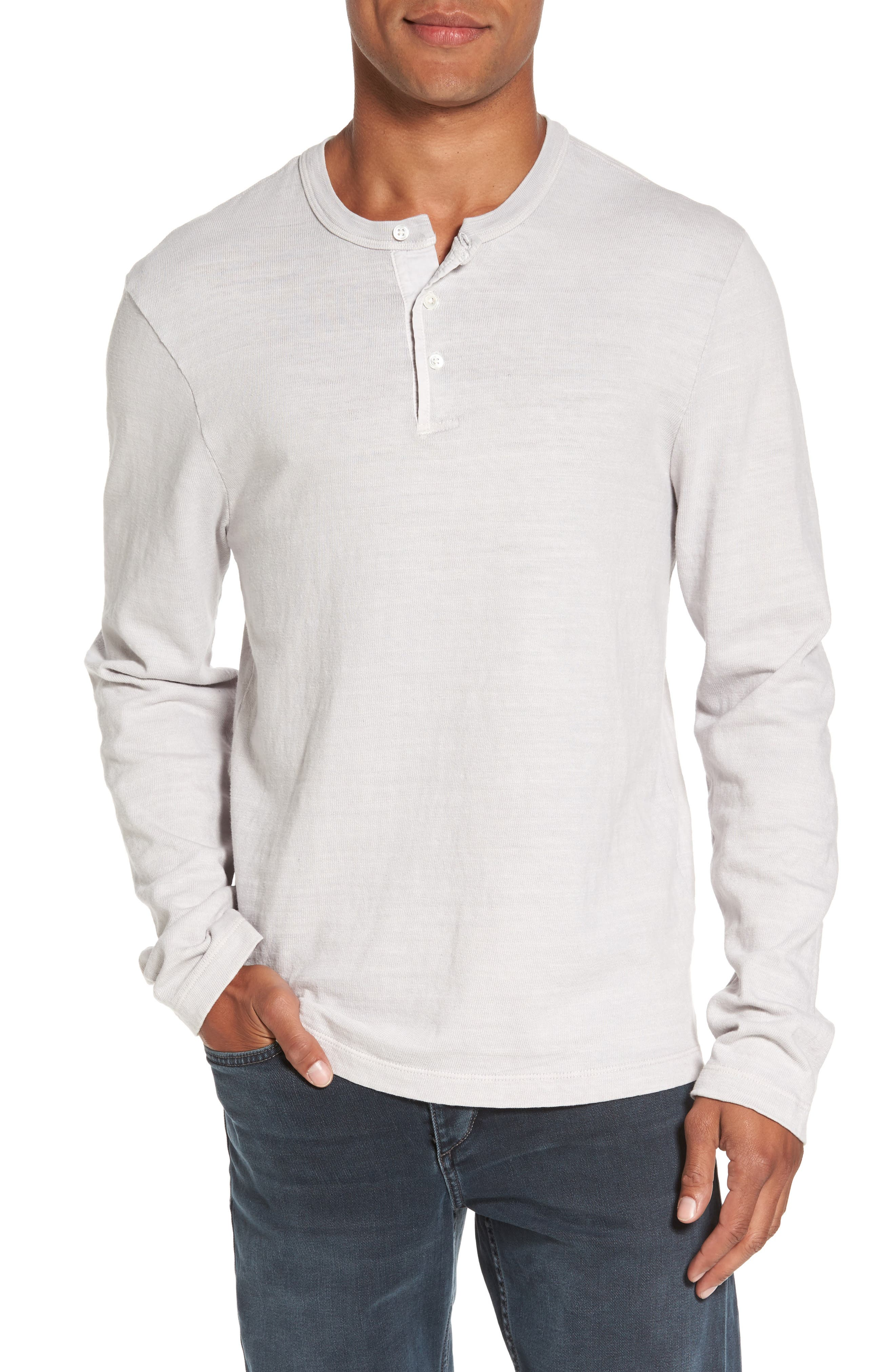 Long Sleeve Henley T-Shirt,                             Main thumbnail 1, color,