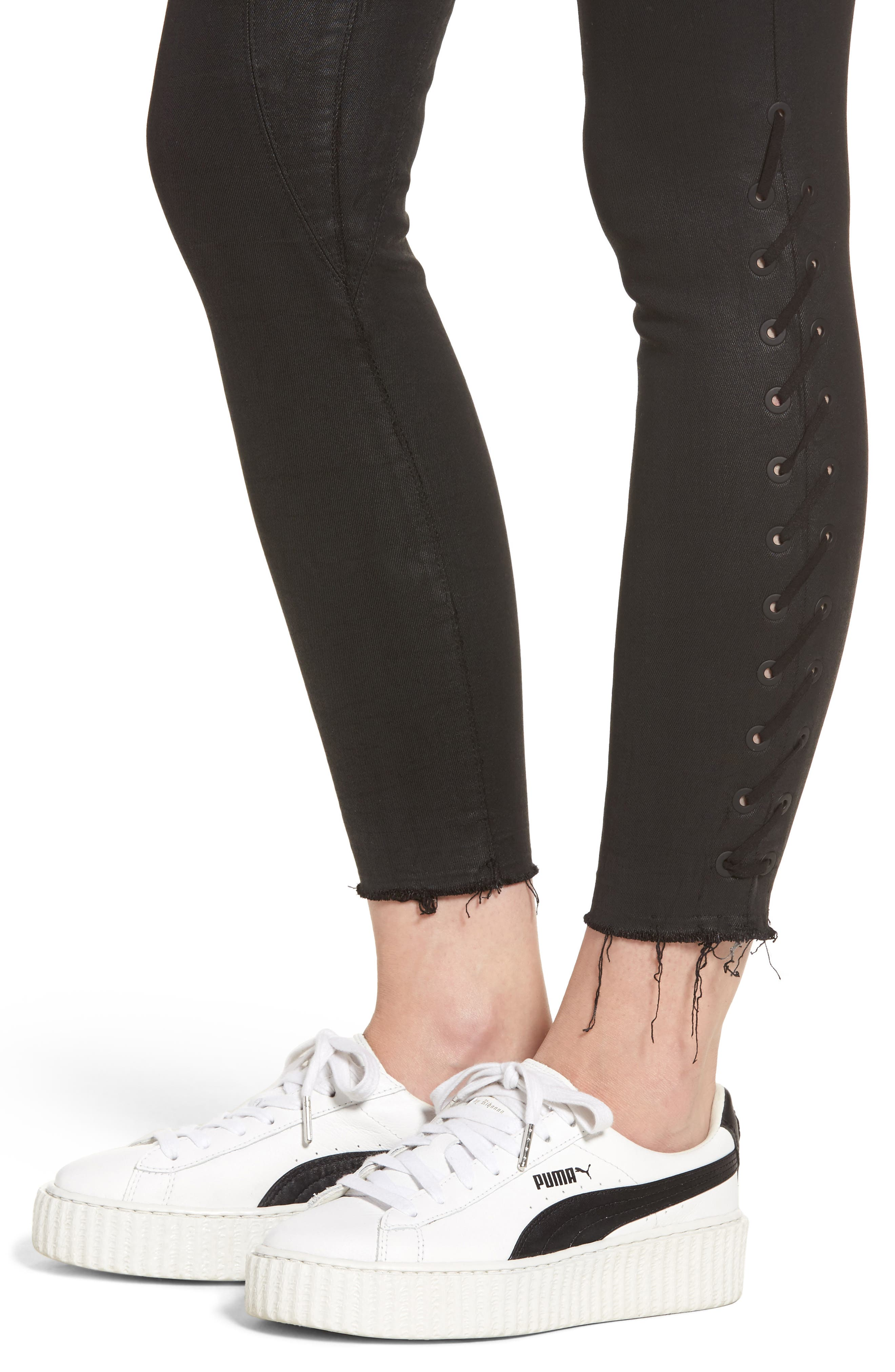 Florence Instasculpt Ankle Skinny Jeans,                             Alternate thumbnail 4, color,                             001