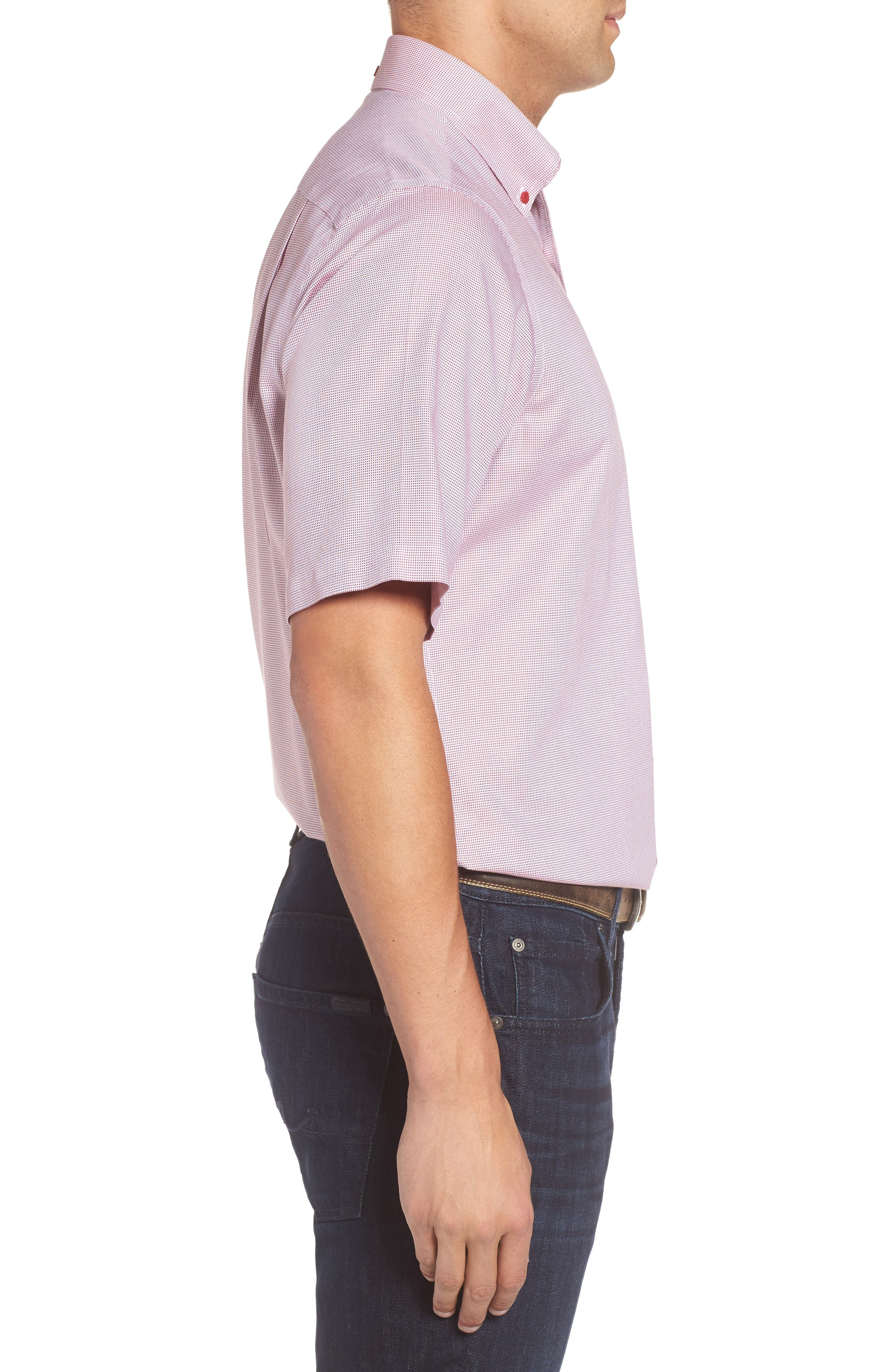 'Classic' Smartcare<sup>™</sup> Regular Fit Short Sleeve Cotton Sport Shirt,                             Alternate thumbnail 77, color,