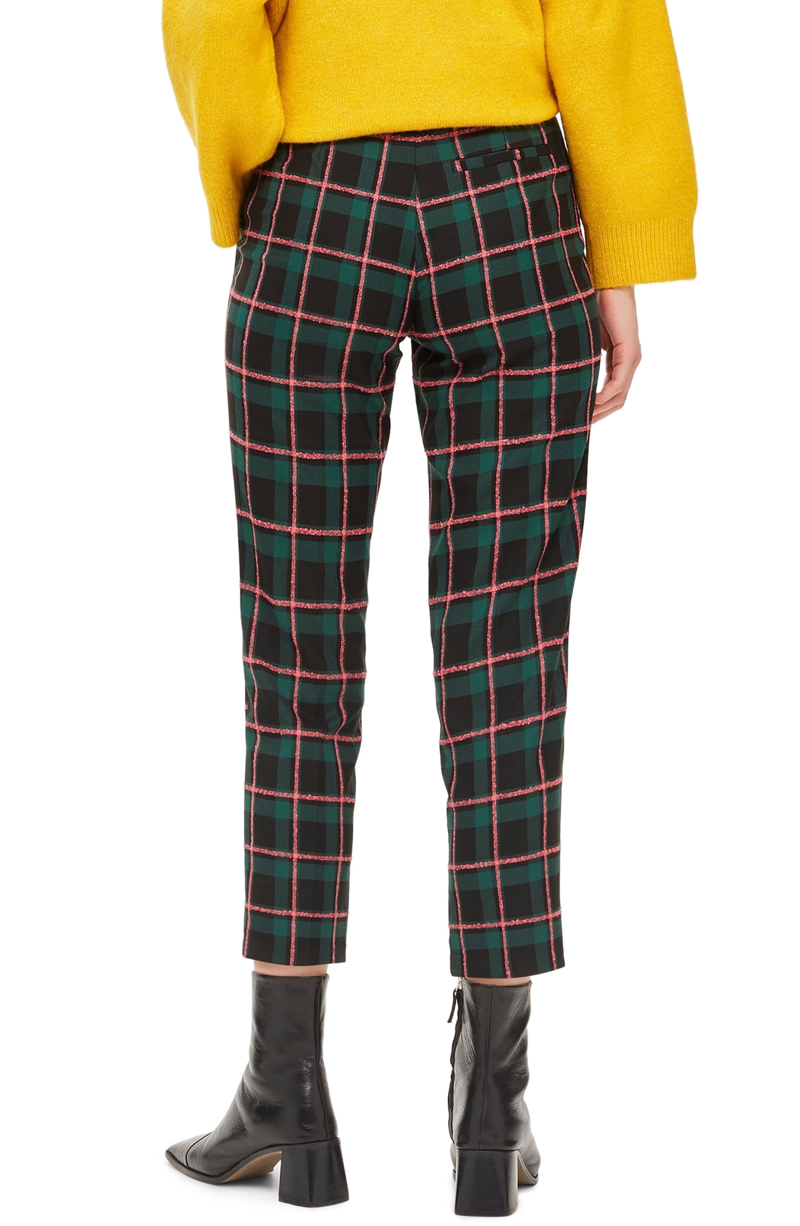 Punk Check Trousers,                             Alternate thumbnail 2, color,                             GREEN MULTI