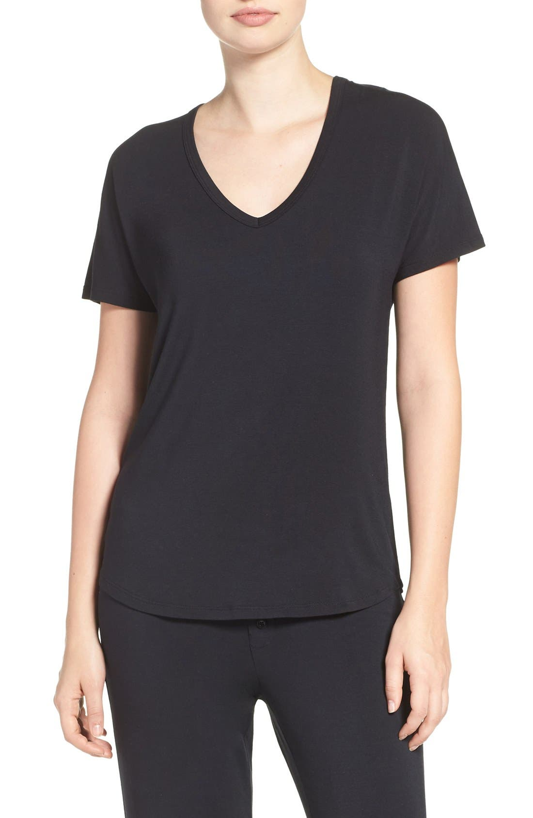 Short Sleeve Tee,                         Main,                         color, BLACK