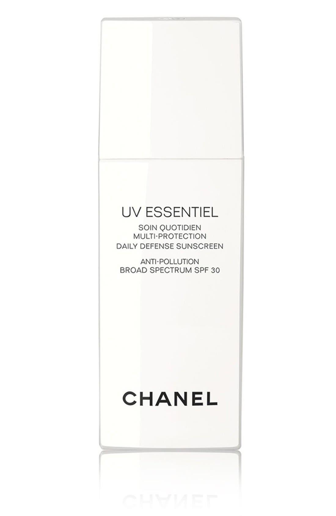 UV ESSENTIEL<br />Multi-Protection Daily Defense Sunscreen Anti-Pollution Broad Spectrum SPF 30,                             Main thumbnail 1, color,                             000