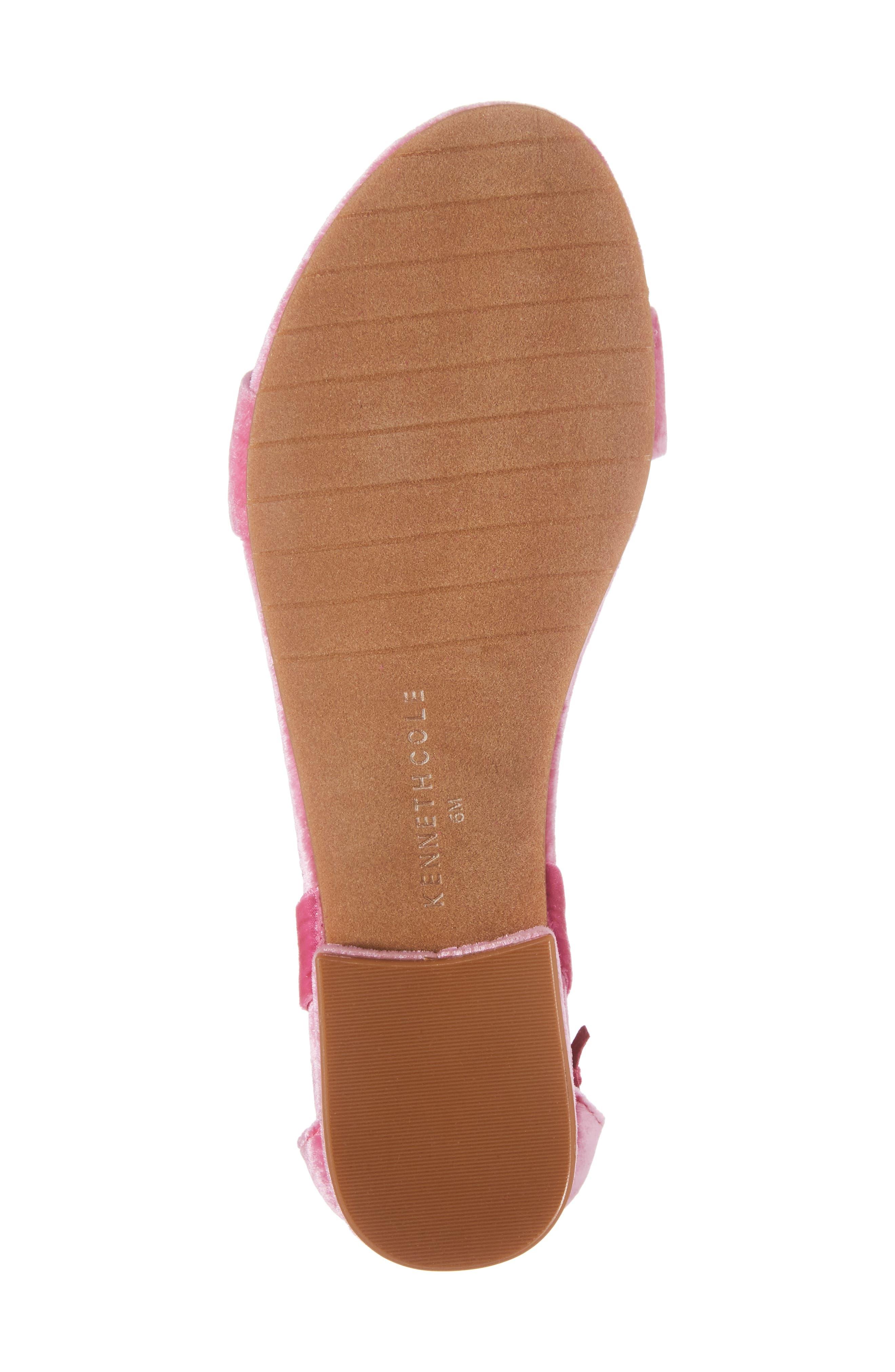 Valen Tassel Lace-Up Sandal,                             Alternate thumbnail 6, color,                             FUCHSIA VELVET