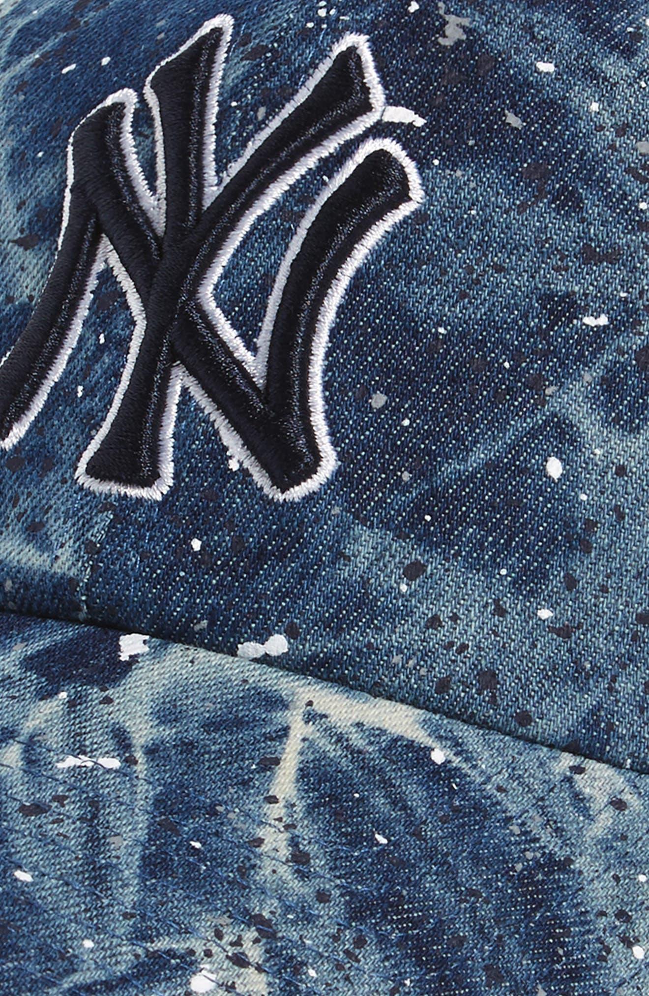 New York Yankees - Blue Splatter Baseball Cap,                             Alternate thumbnail 3, color,                             400