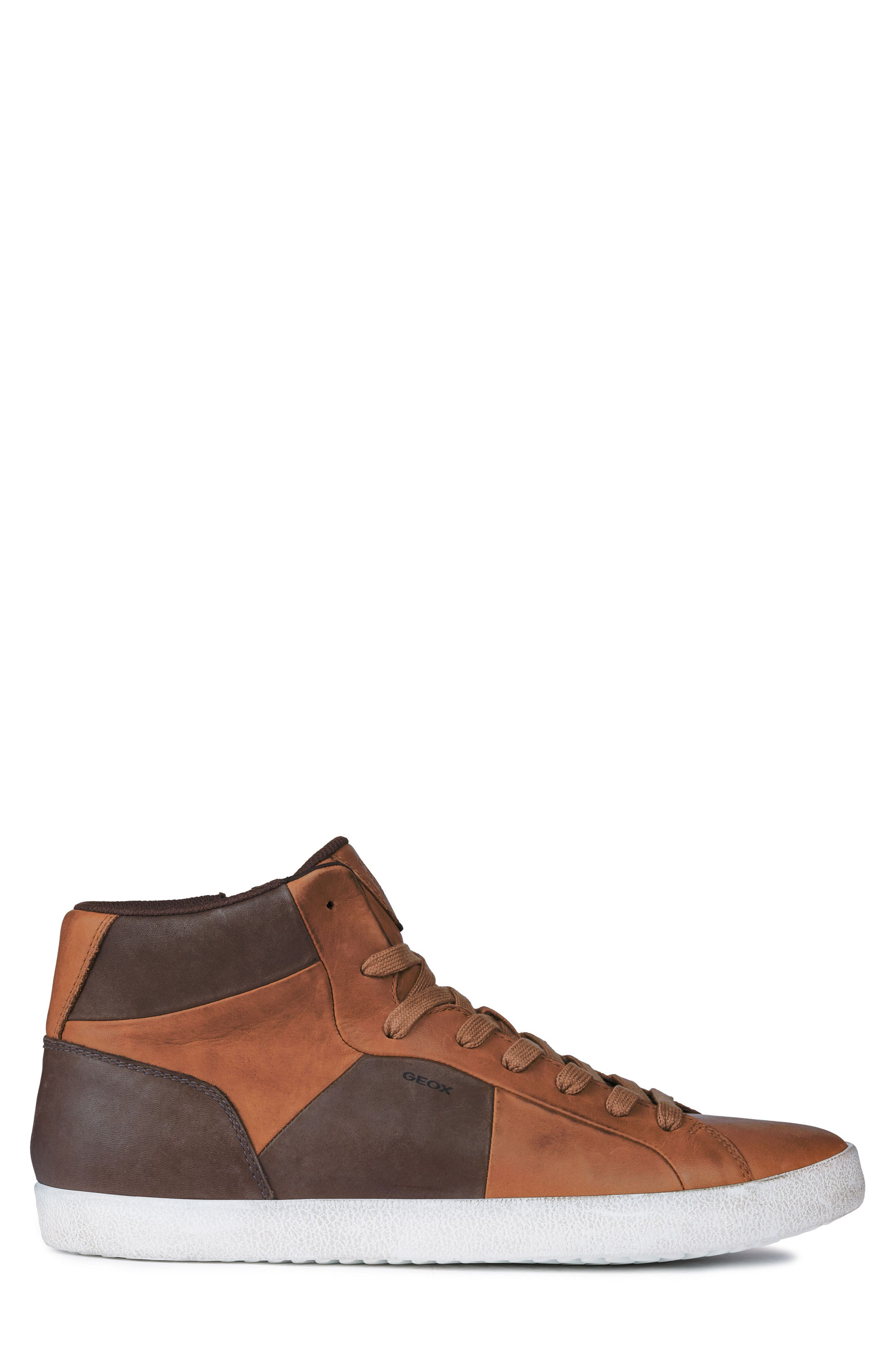 Smart 84 High Top Sneaker,                             Alternate thumbnail 3, color,                             COGNAC/ COFFEE LEATHER