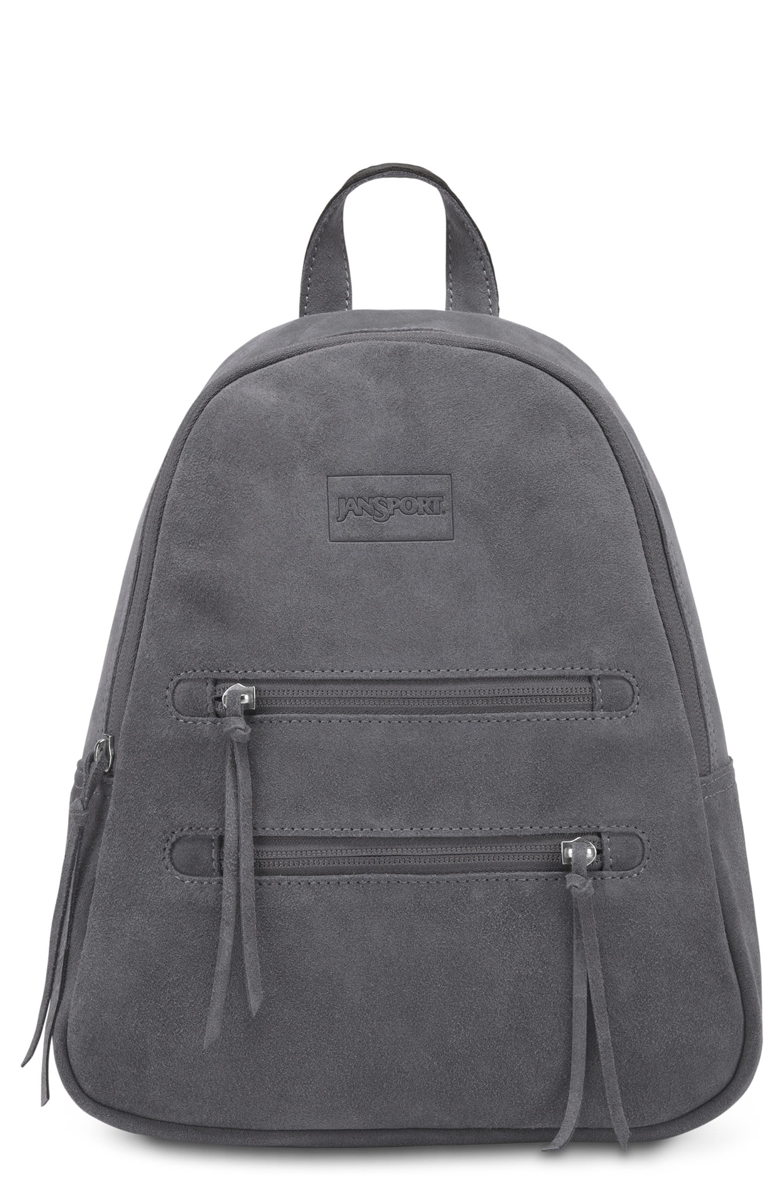 JANSPORT Desert Collection Mini Backpack - Grey in Mistral Grey Leather