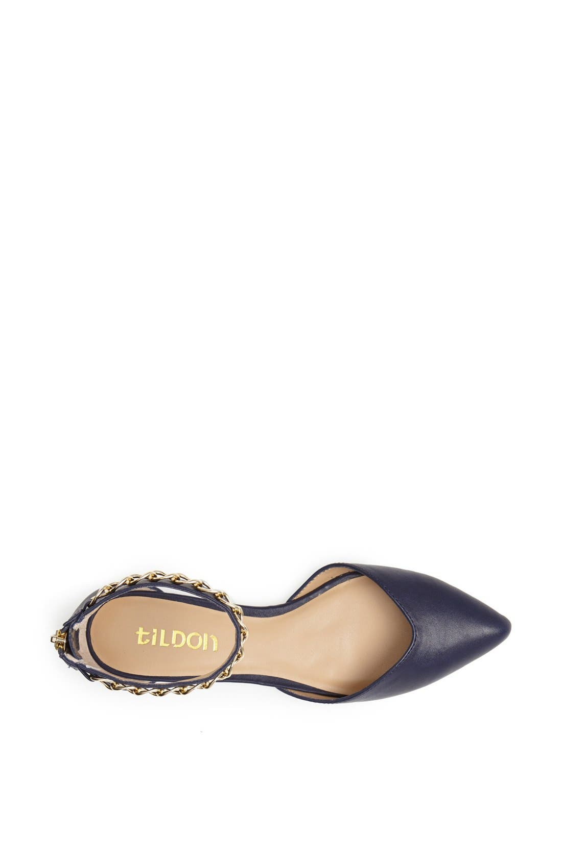 'Anya' Ankle Strap D'Orsay Flat,                             Alternate thumbnail 12, color,