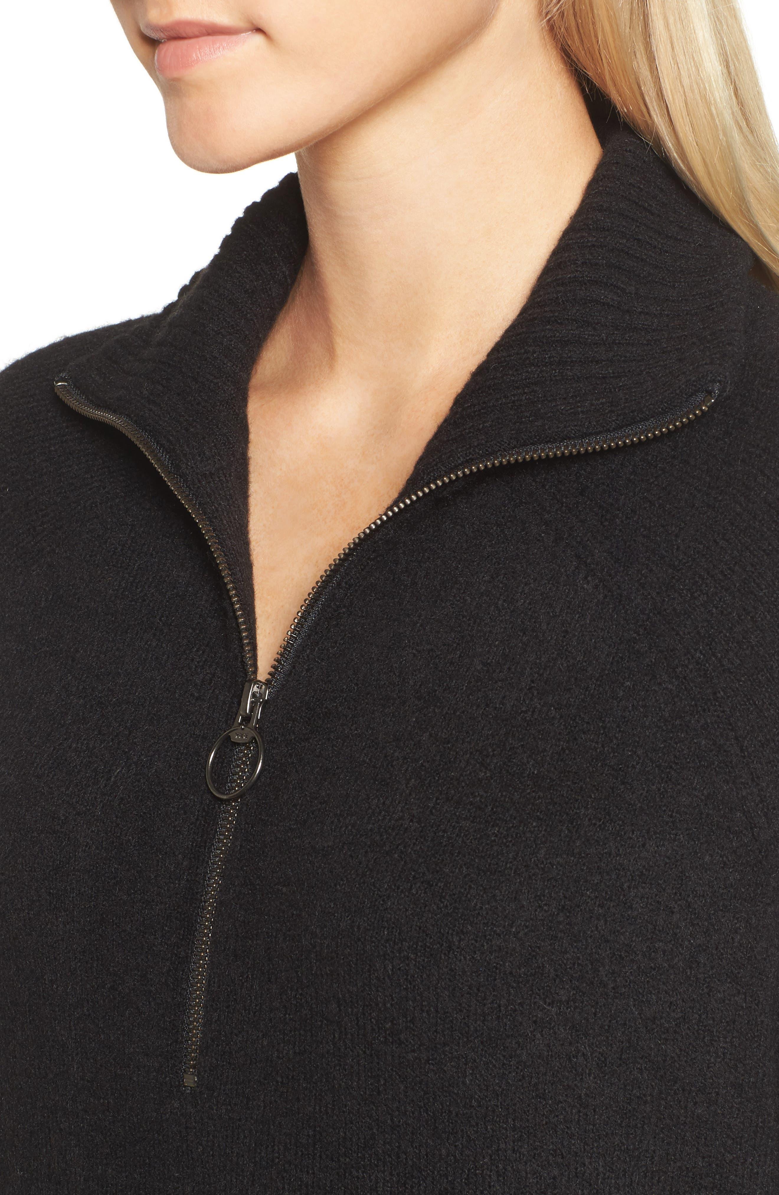 Half Zip Pullover,                             Alternate thumbnail 4, color,                             001