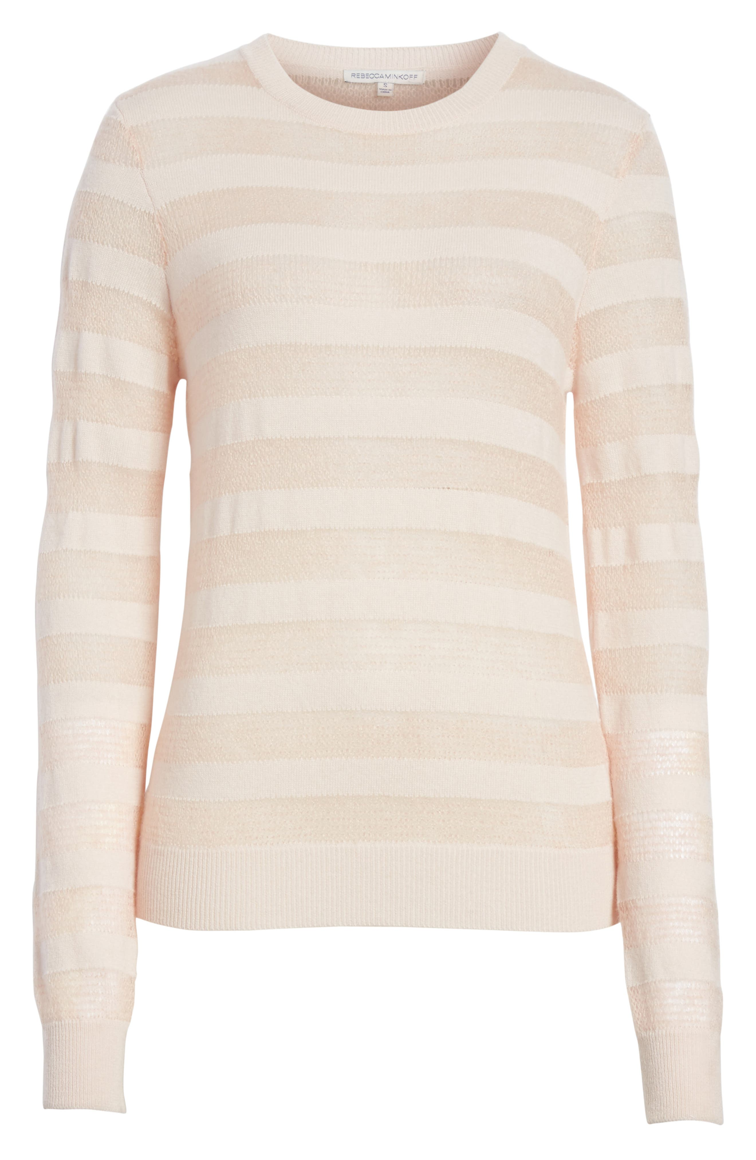 Theo Stripe Sweater,                             Alternate thumbnail 6, color,                             698