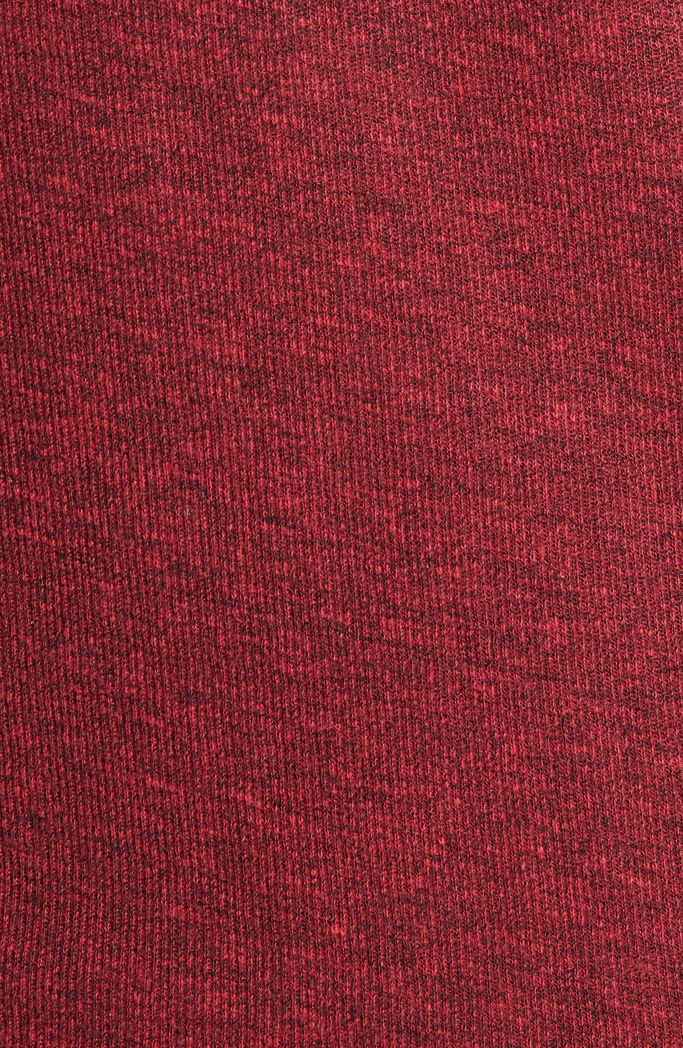 Regular Fit Ribbed Quarter Zip Shirt,                             Alternate thumbnail 5, color,                             MOLTEN LAVA