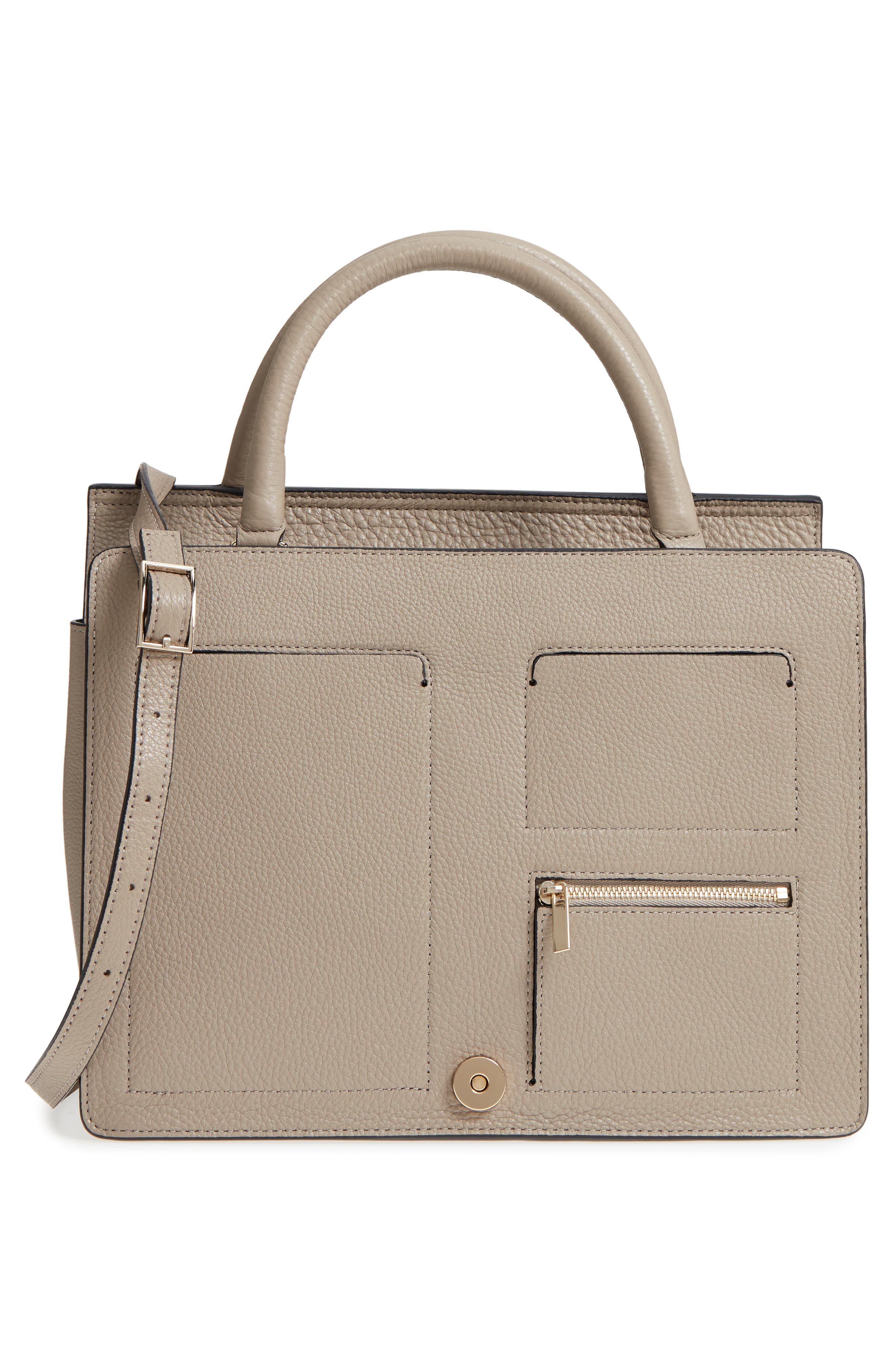Prism Convertible Satchel,                             Alternate thumbnail 3, color,                             TAUPE