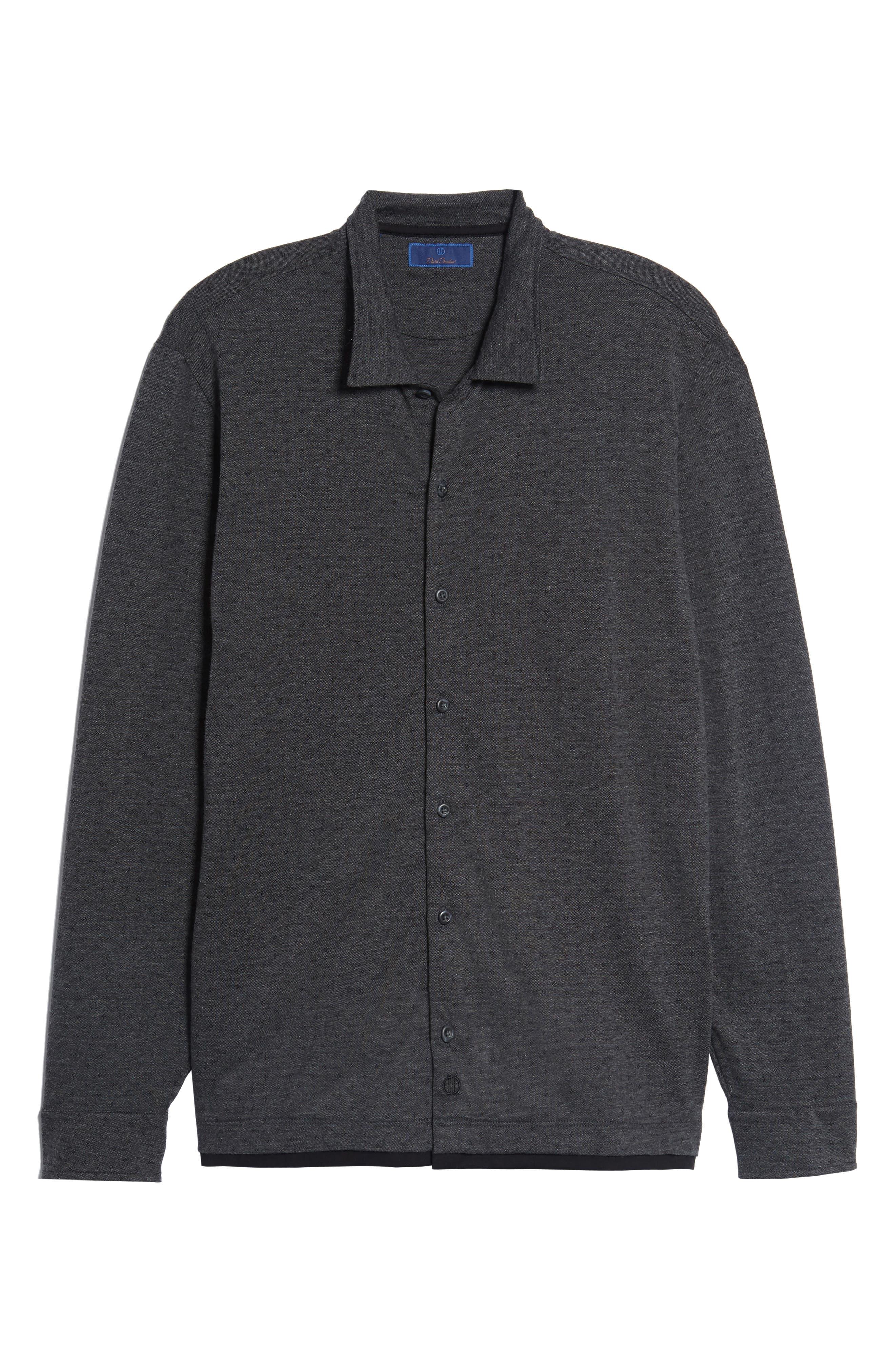 Jacquard Knit Sport Shirt,                             Alternate thumbnail 21, color,