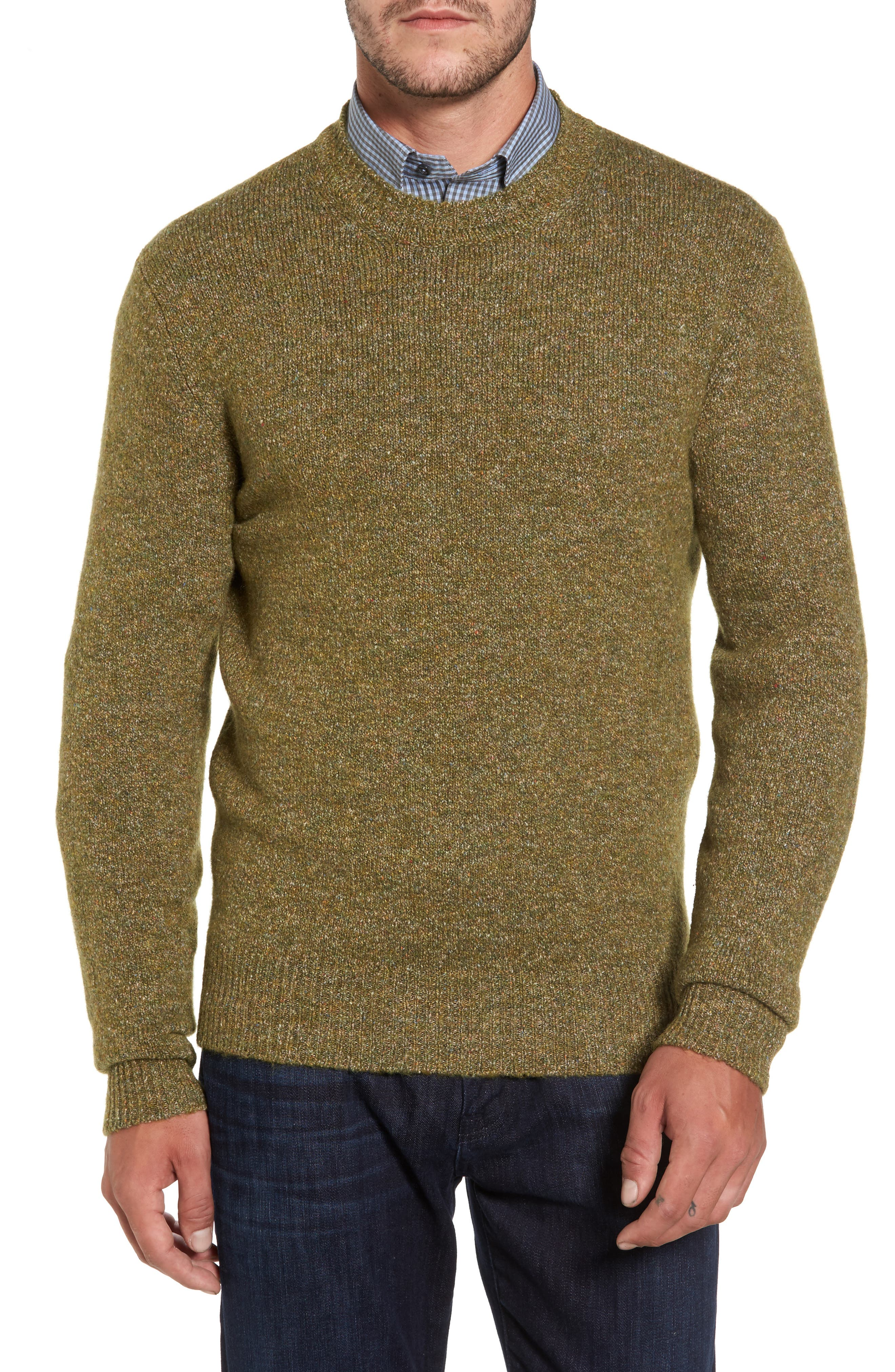 Tweed Crewneck Sweater,                             Main thumbnail 2, color,