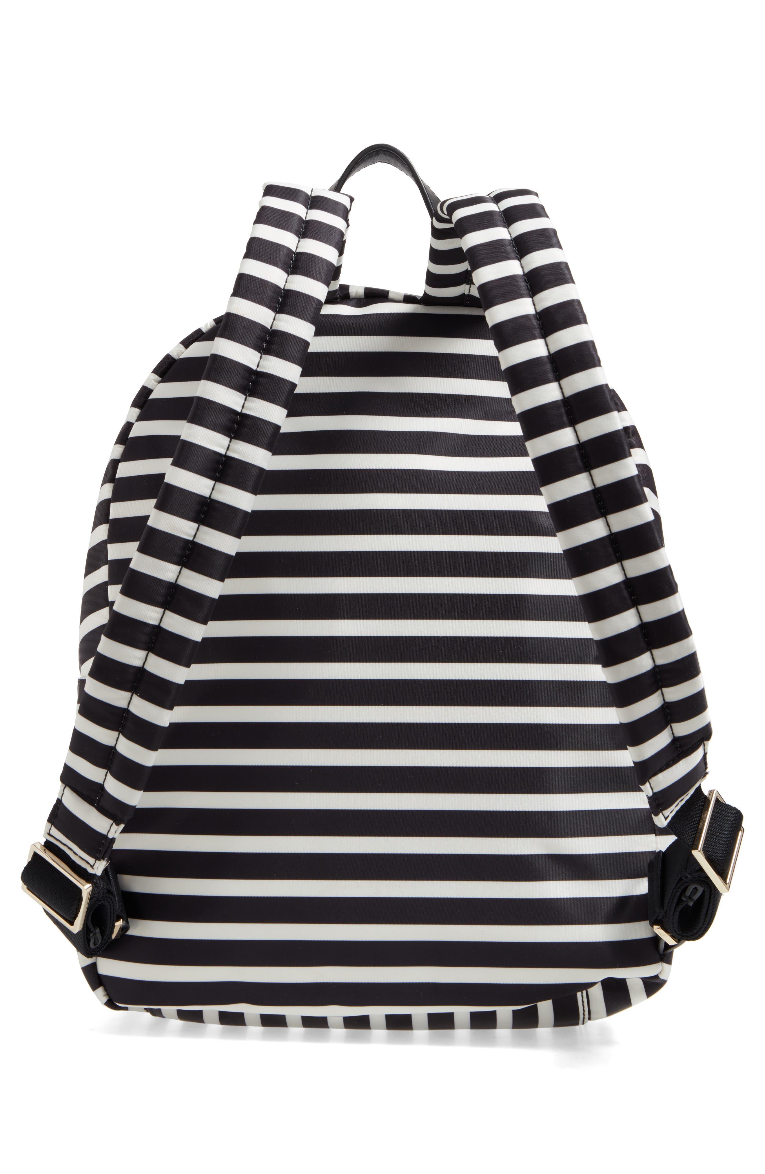 watson lane - hartley nylon backpack,                             Alternate thumbnail 3, color,                             BLACK/ CLOTTED CREAM