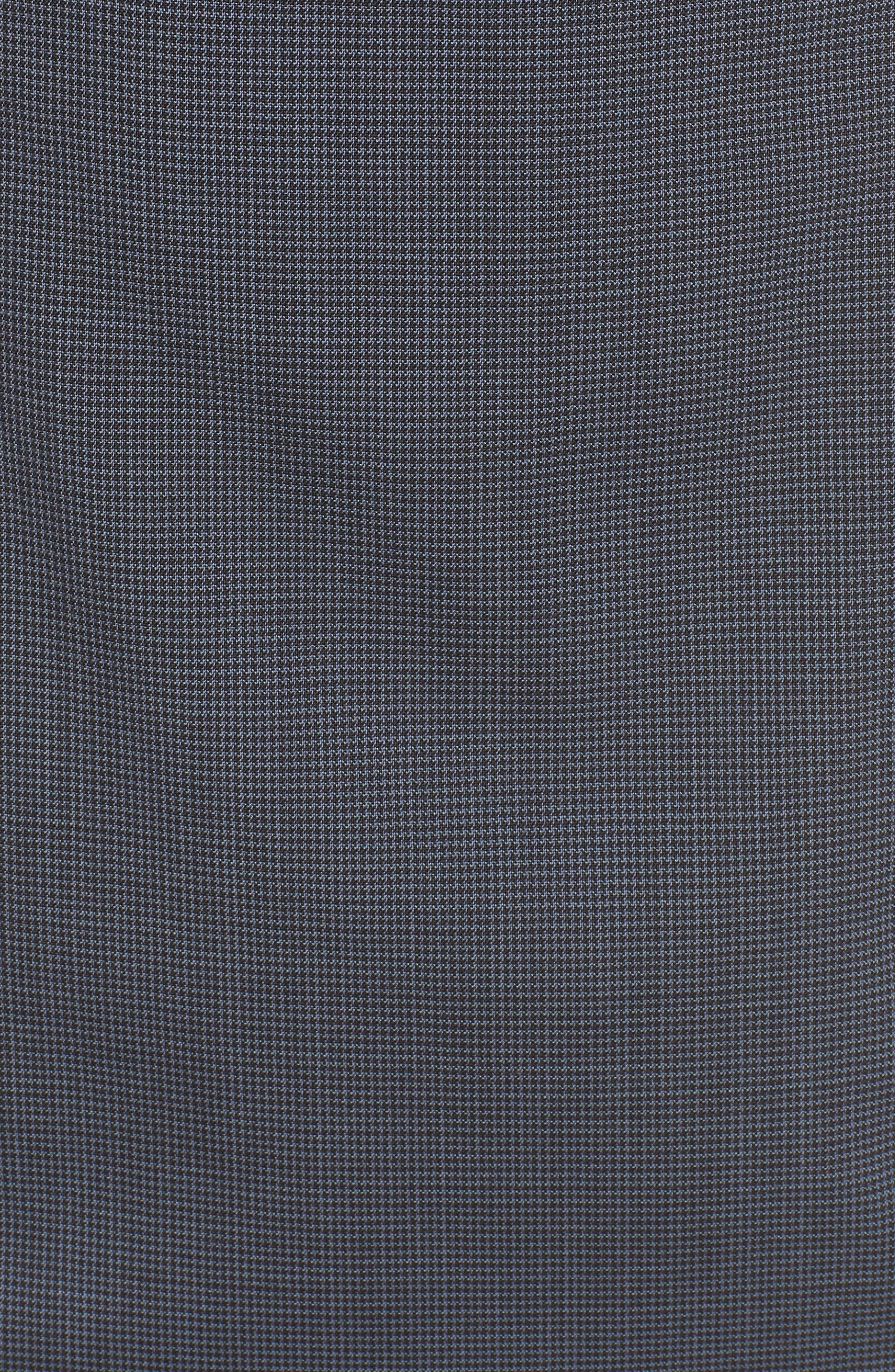 Dalouise Pepita Stretch Wool Sheath Dress,                             Alternate thumbnail 5, color,