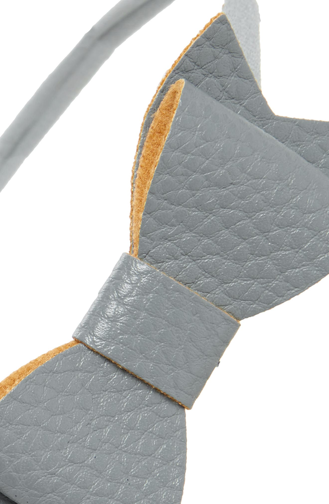 Faux Leather Bow Headband,                             Alternate thumbnail 2, color,                             GREY