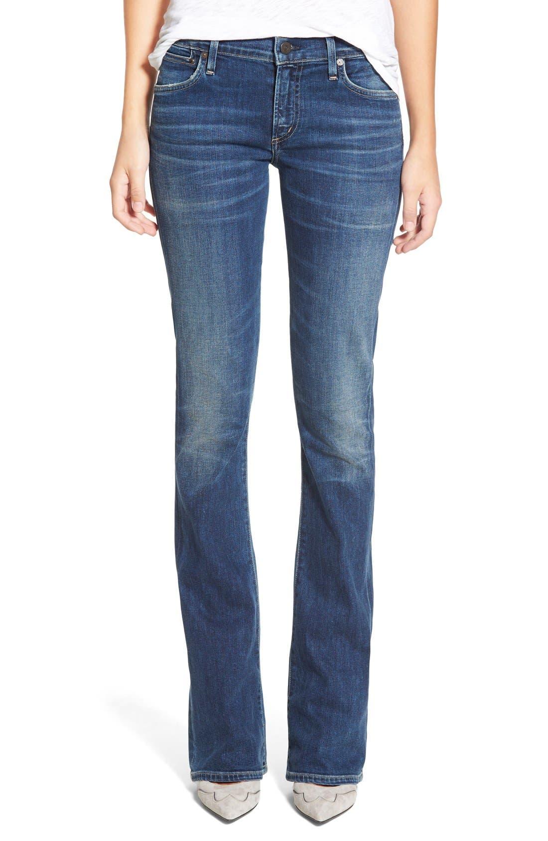 'Emannuelle' Slim BootcutJeans,                             Main thumbnail 1, color,                             MODERN LOVE