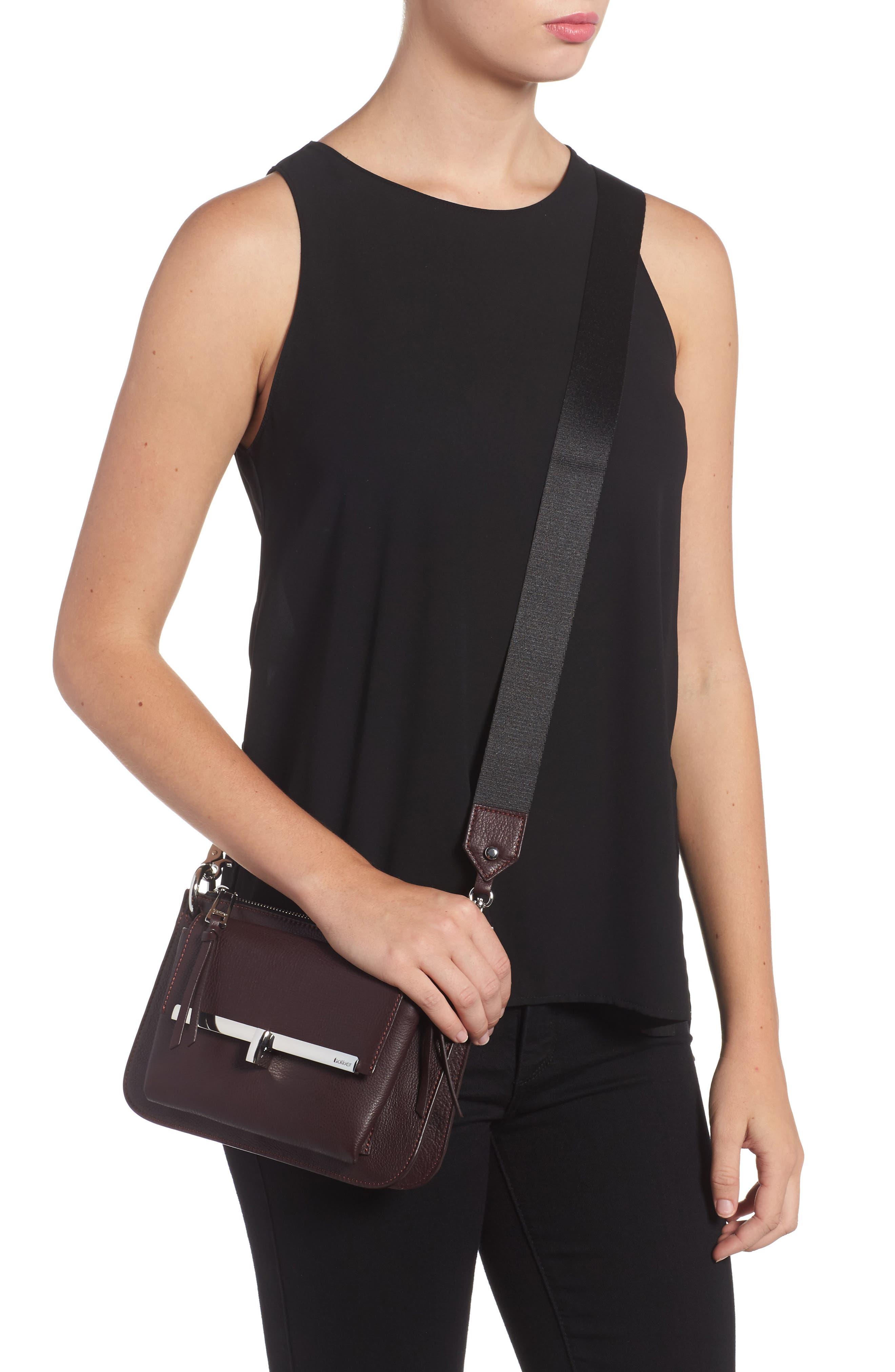 Bleeker Leather Double Shoulder Bag,                             Alternate thumbnail 11, color,
