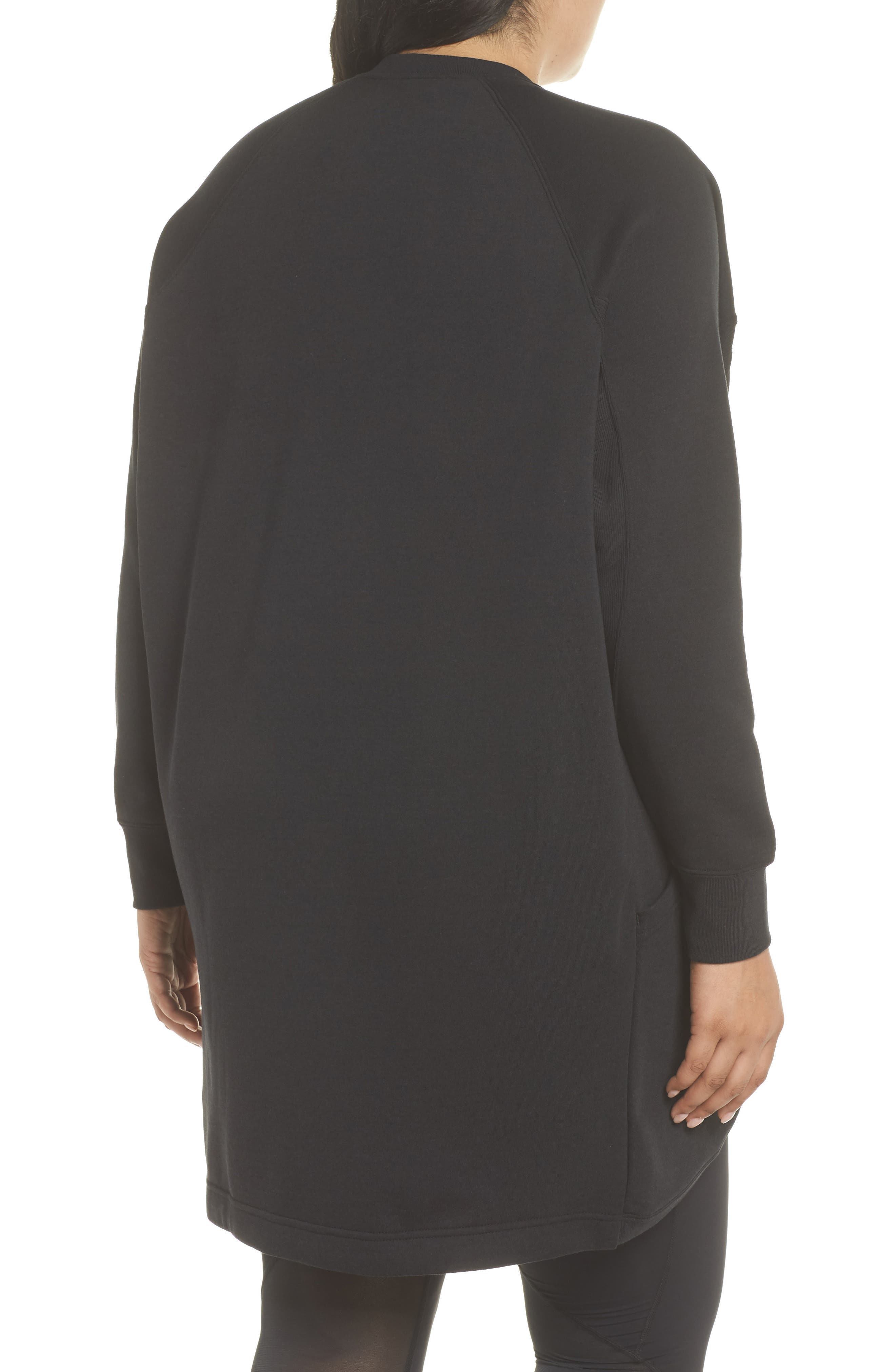 Sportswear Rally Cardigan,                             Alternate thumbnail 2, color,                             BLACK/ BLACK/ WHITE