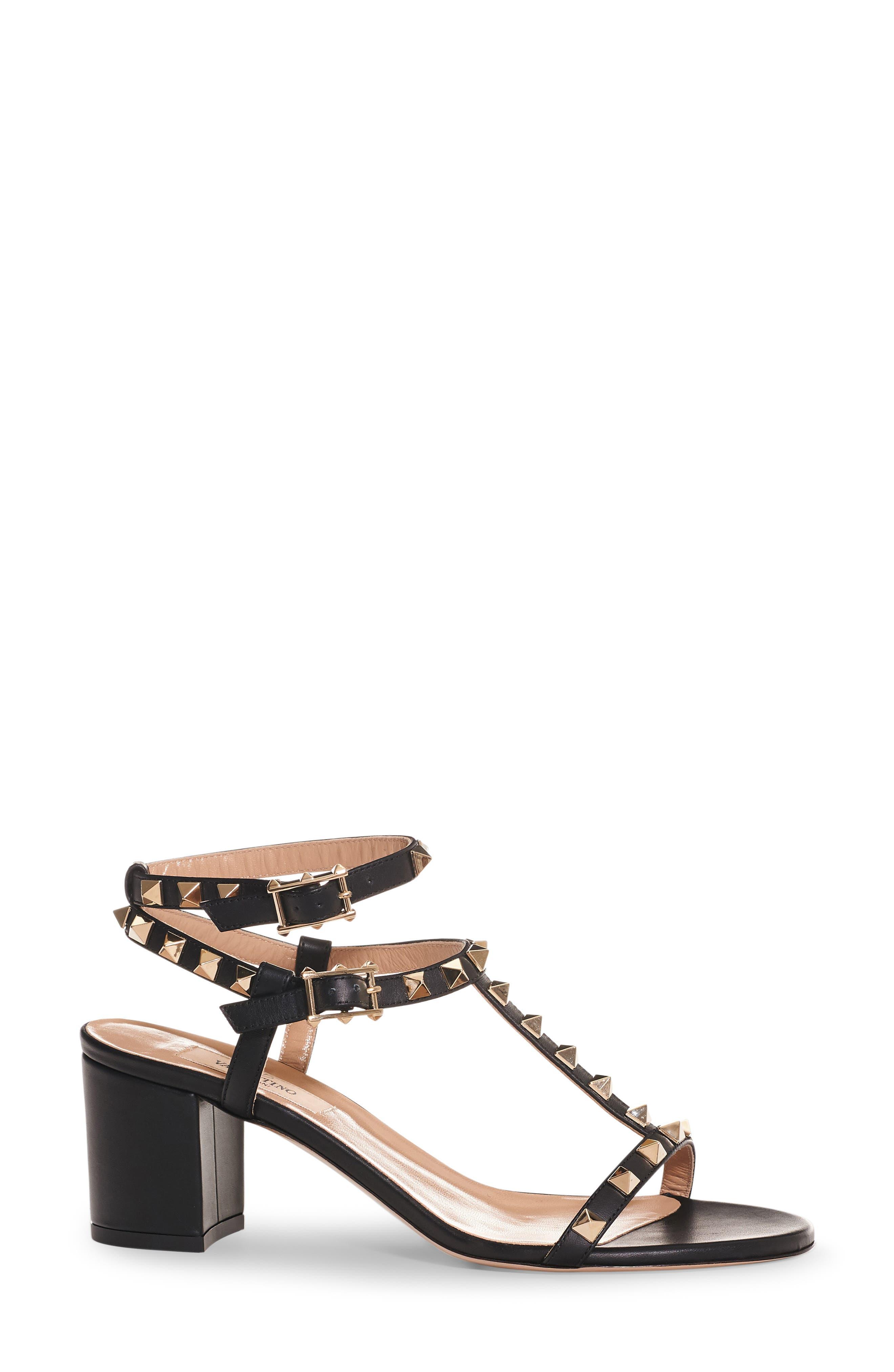 Rockstud Ankle Strap Sandal,                             Alternate thumbnail 3, color,