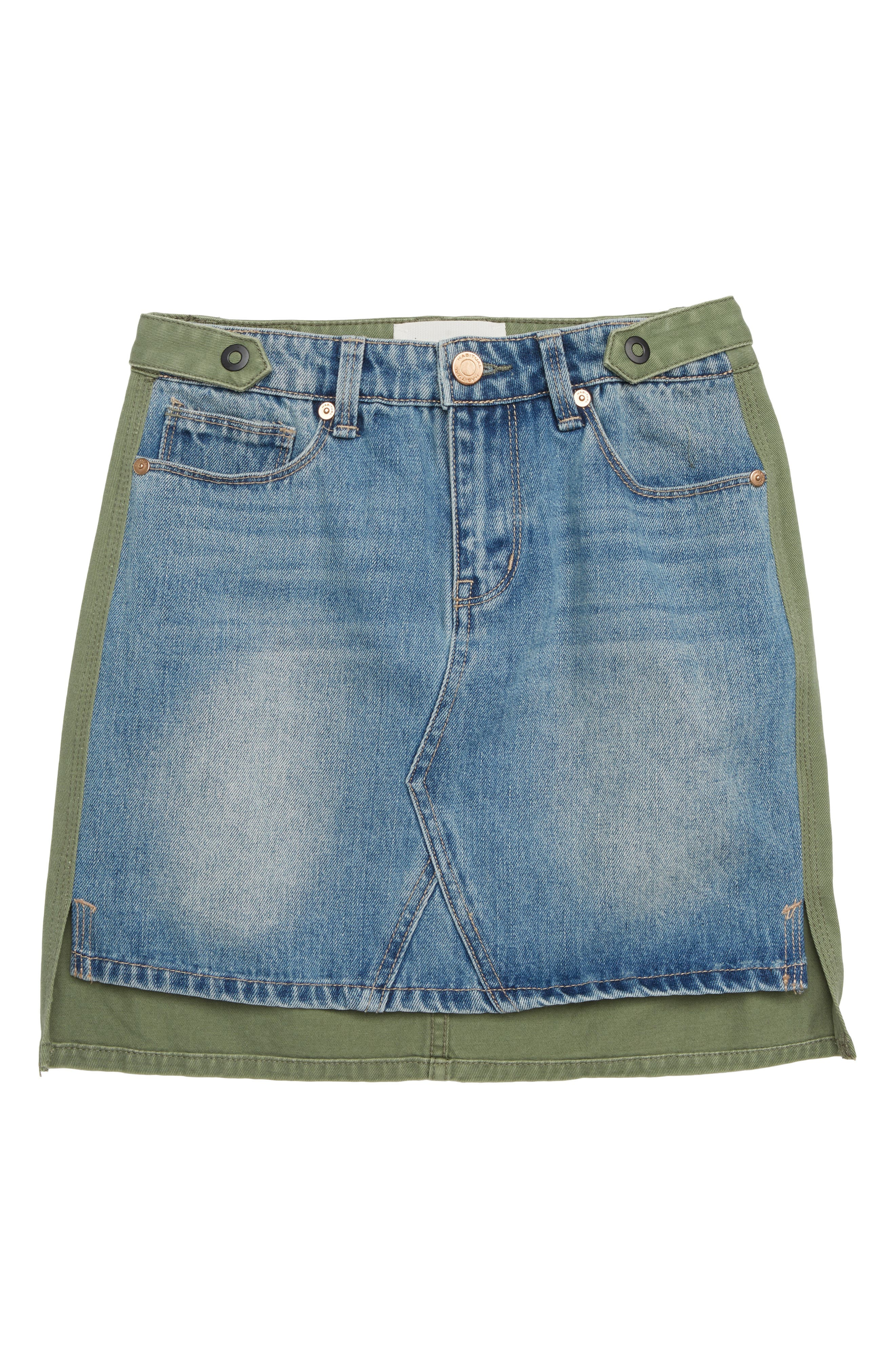 Cassia Mixed Fabric Skirt,                         Main,                         color, 100