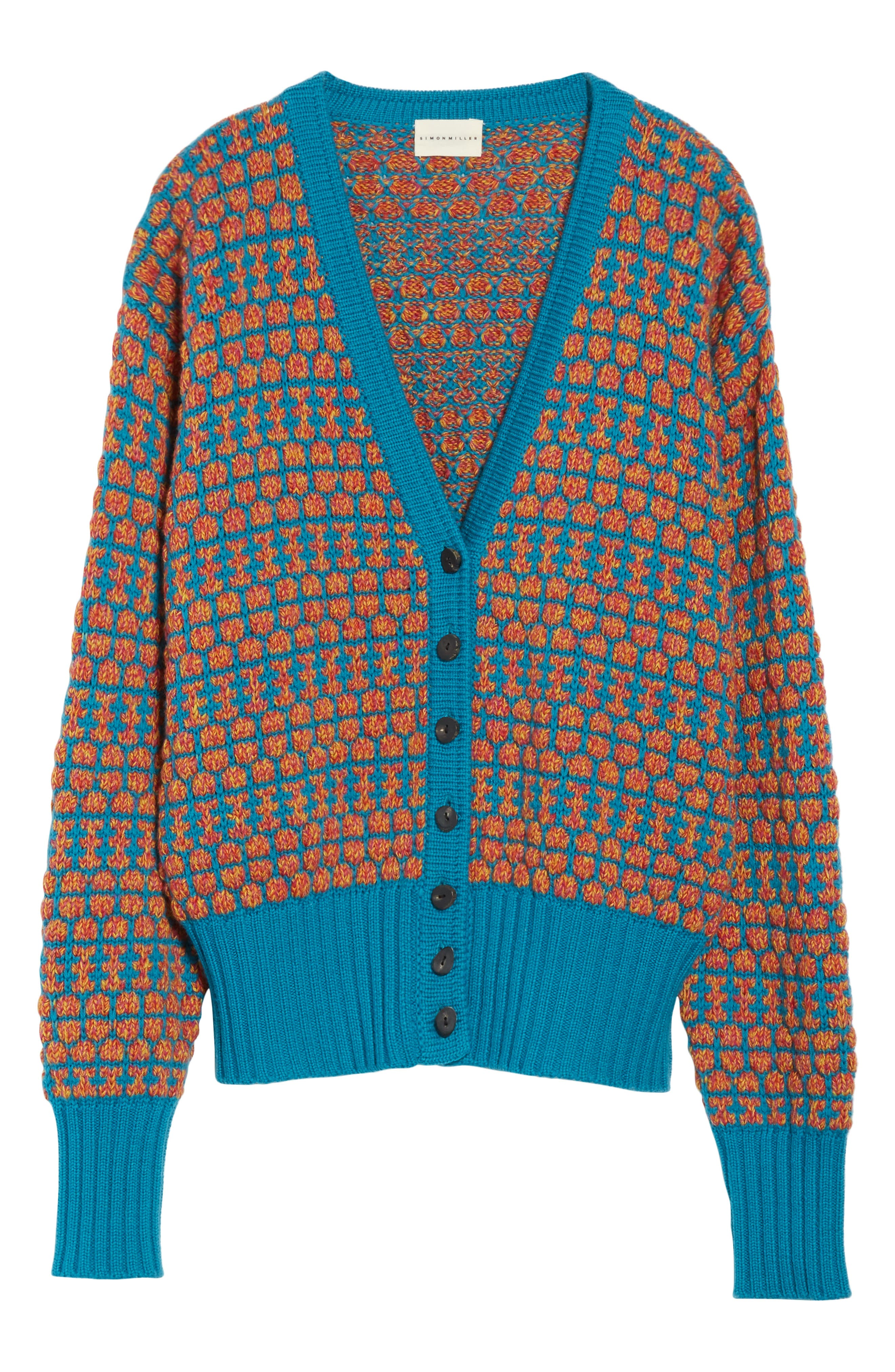 Izee Floral Button Cardigan,                             Alternate thumbnail 6, color,                             400
